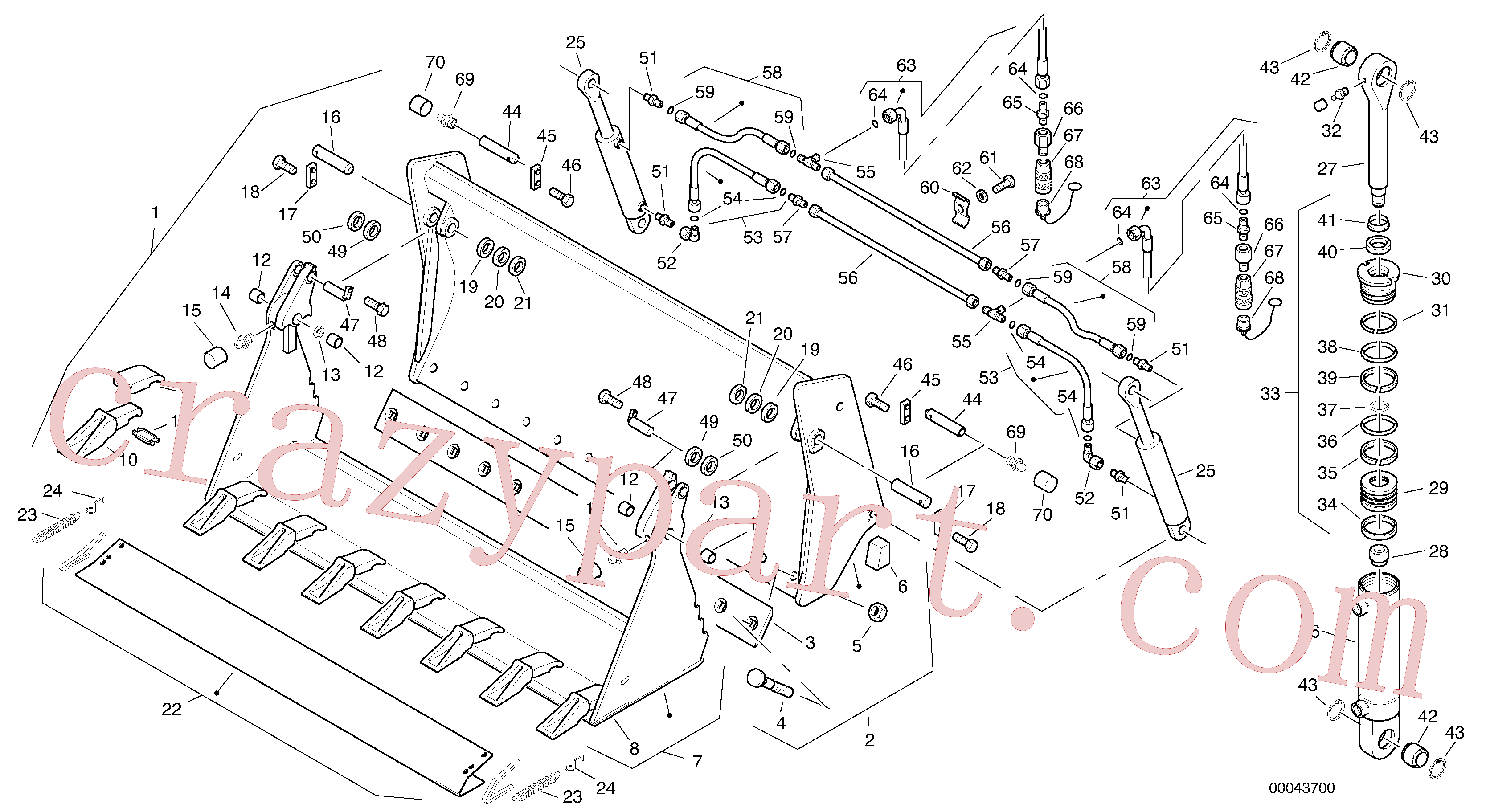 ZM4383338 for Volvo Combined bucket - Tpv(00043700 assembly)