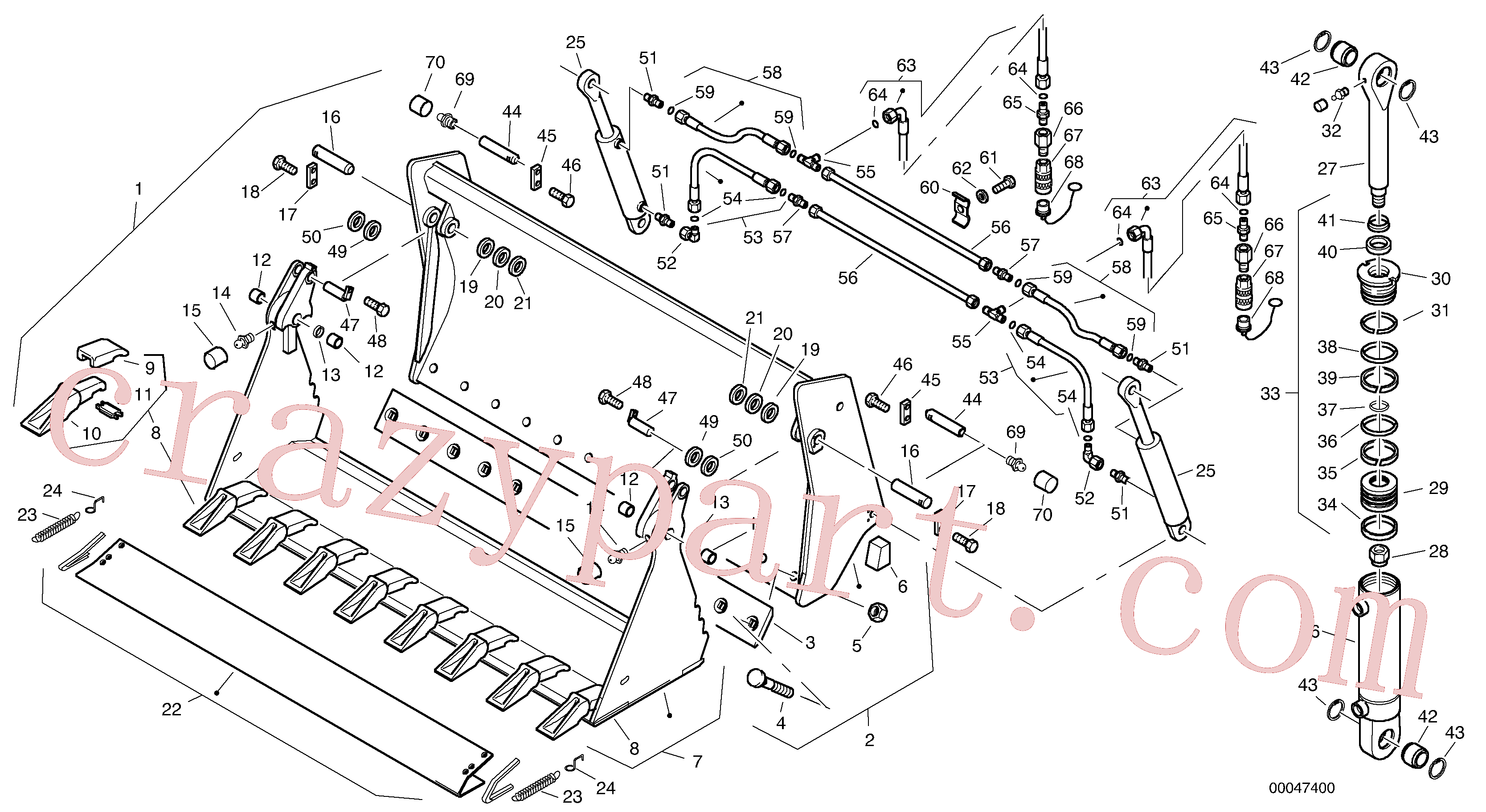 ZM2078120 for Volvo Combined bucket - TPV(00047400 assembly)