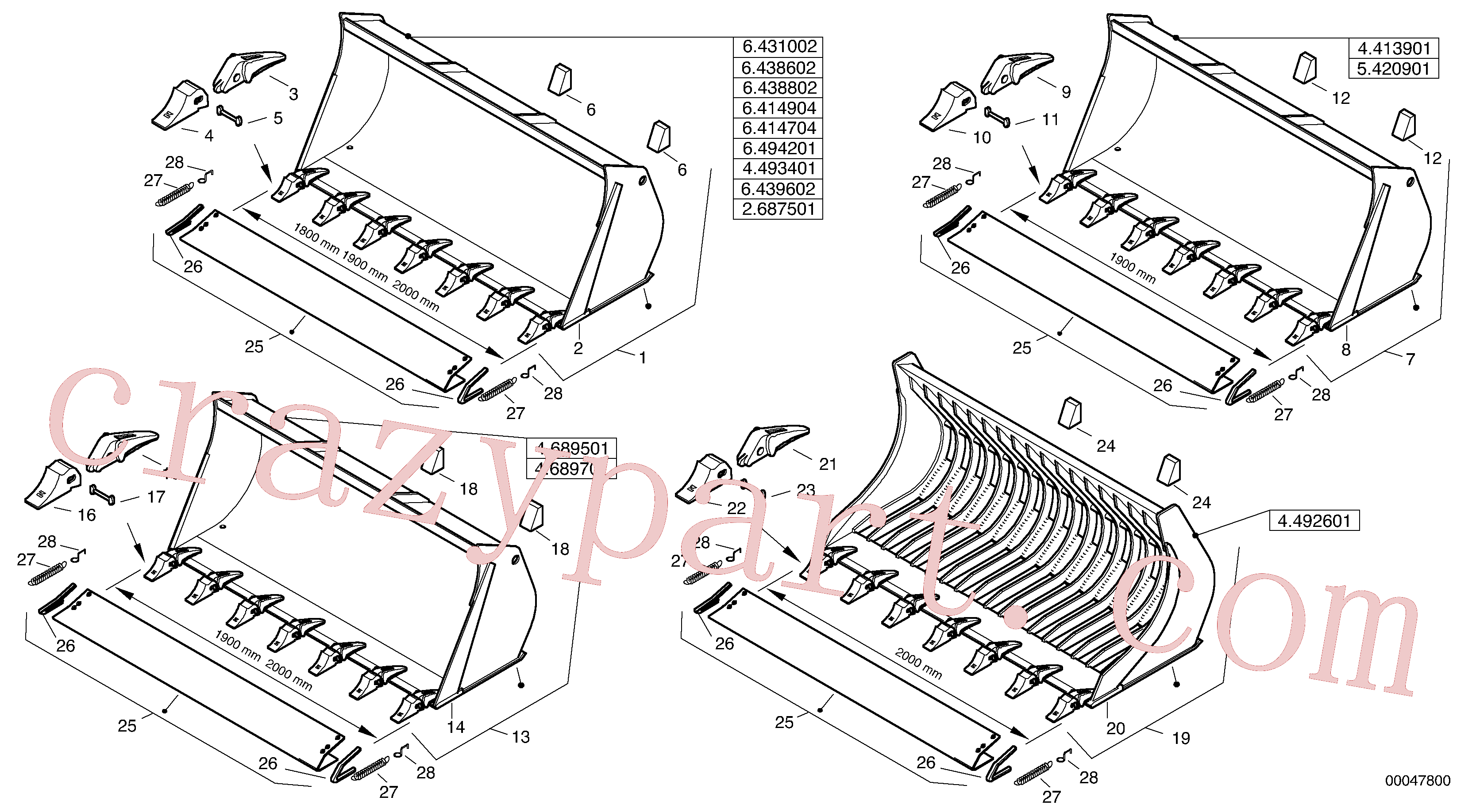 ZM2813500 for Volvo Bucket with teeth - Z-cinematic(00047800 assembly)