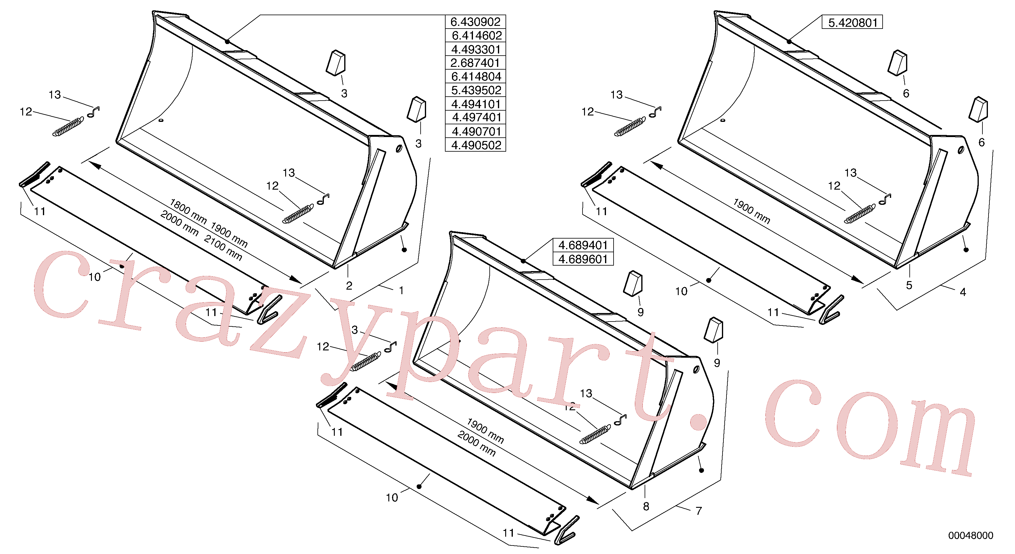 ZM2290670 for Volvo Bucket without teeth - Z-cinematic(00048000 assembly)
