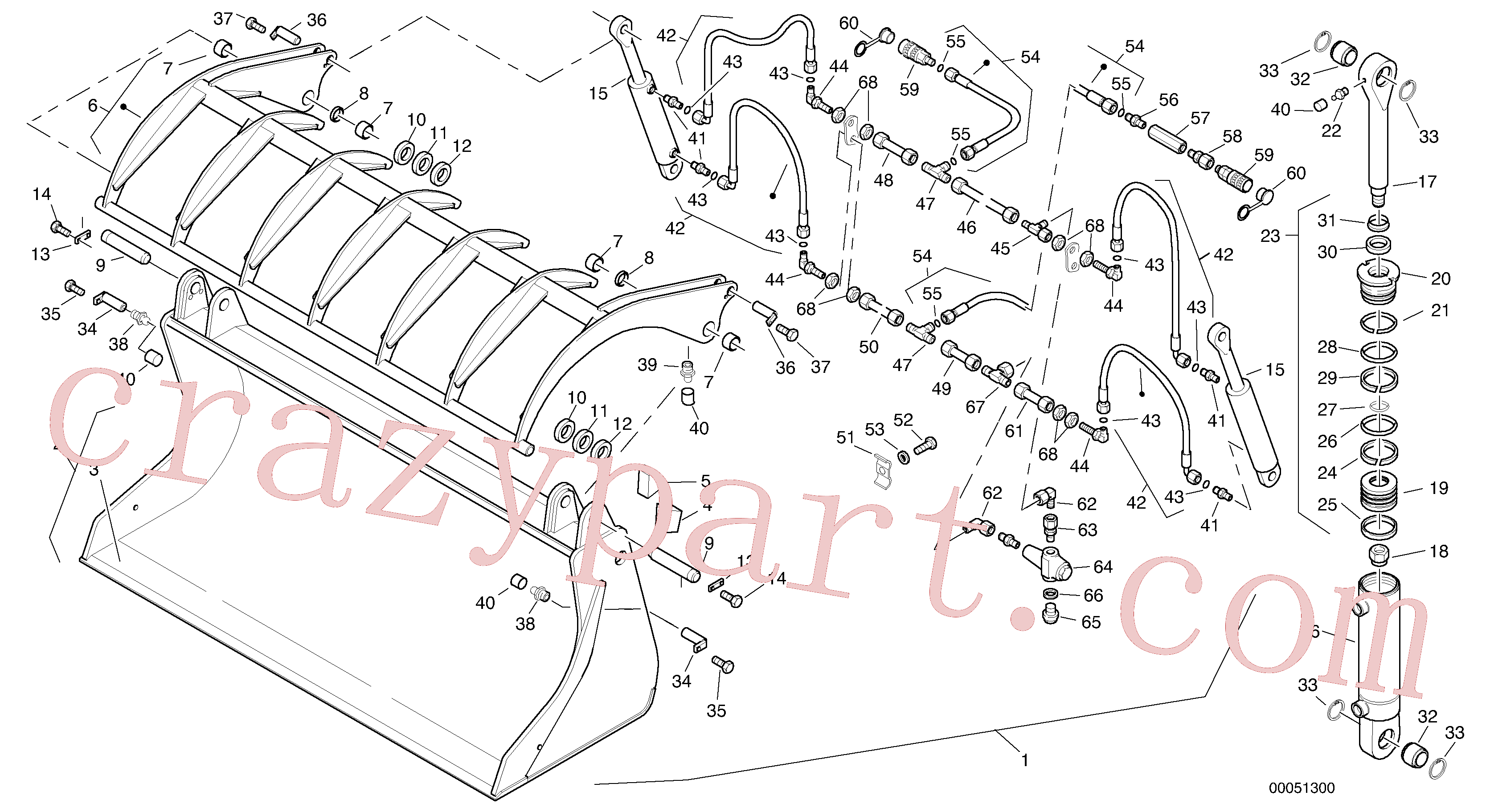 VOE11305512 for Volvo Waste grab bucket - TPZ(00051300 assembly)