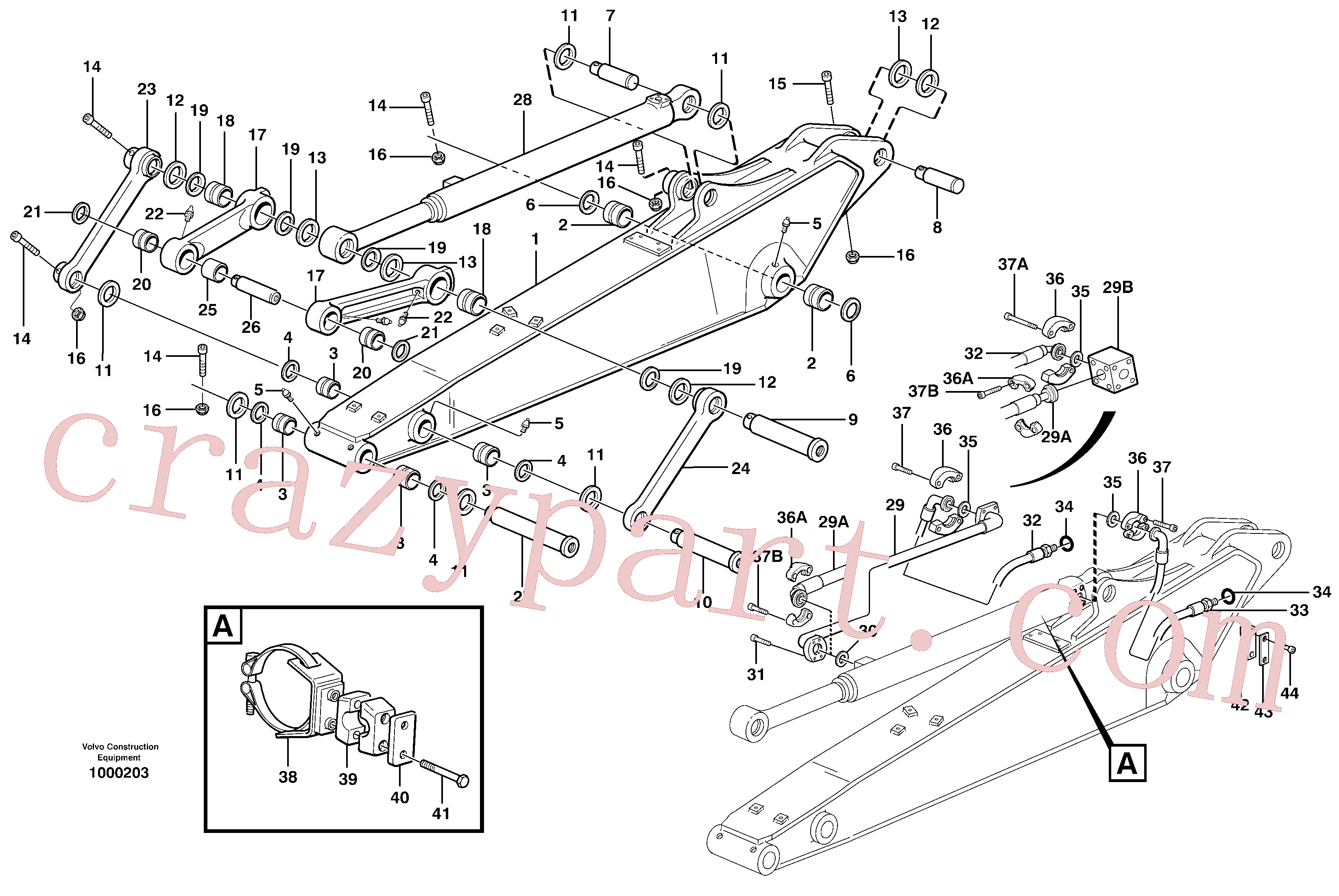VOE14370081 for Volvo Dipper arm incl. connect.(1000203 assembly)