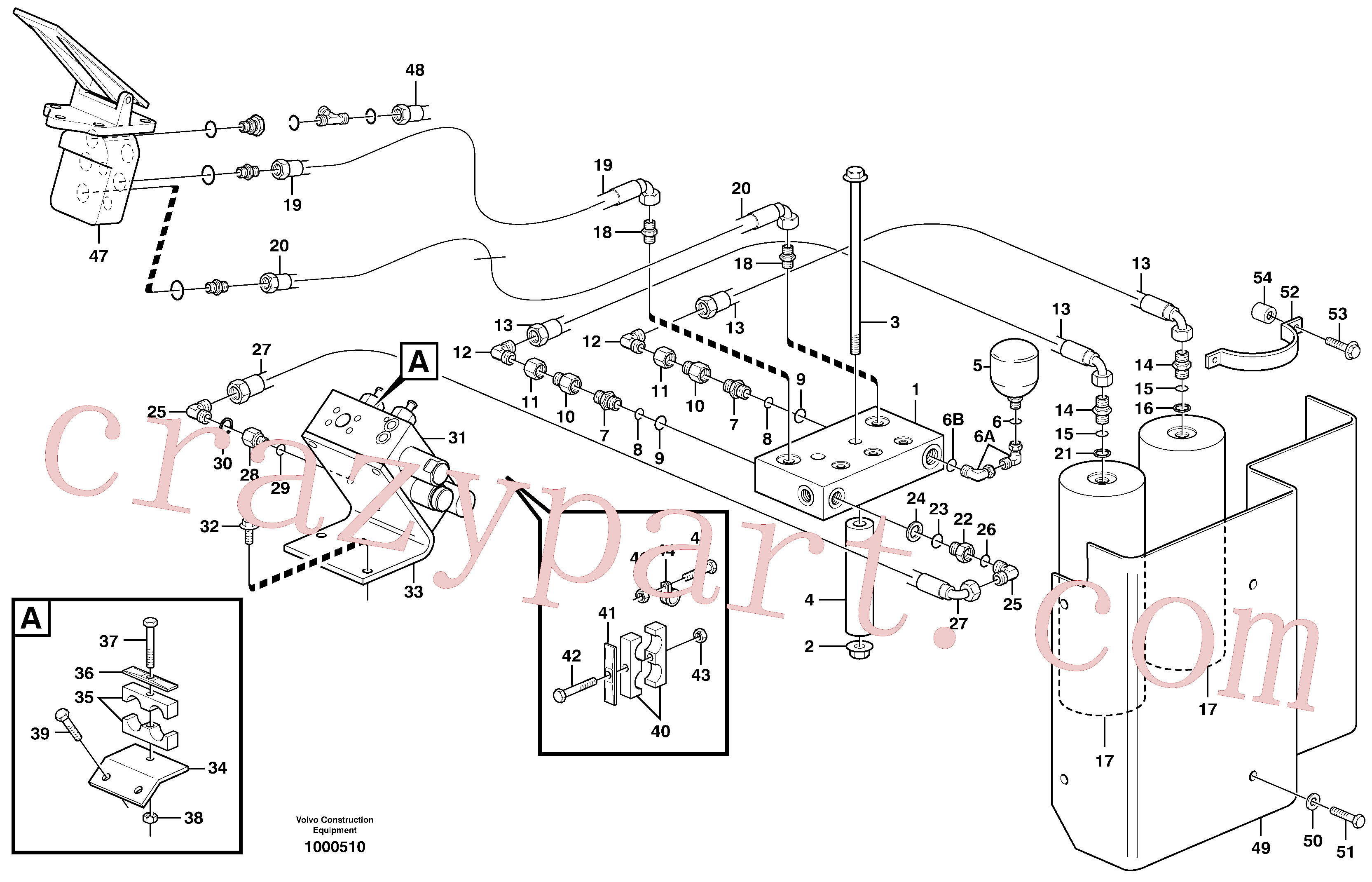 VOE13933877 for Volvo Brake system(1000510 assembly)