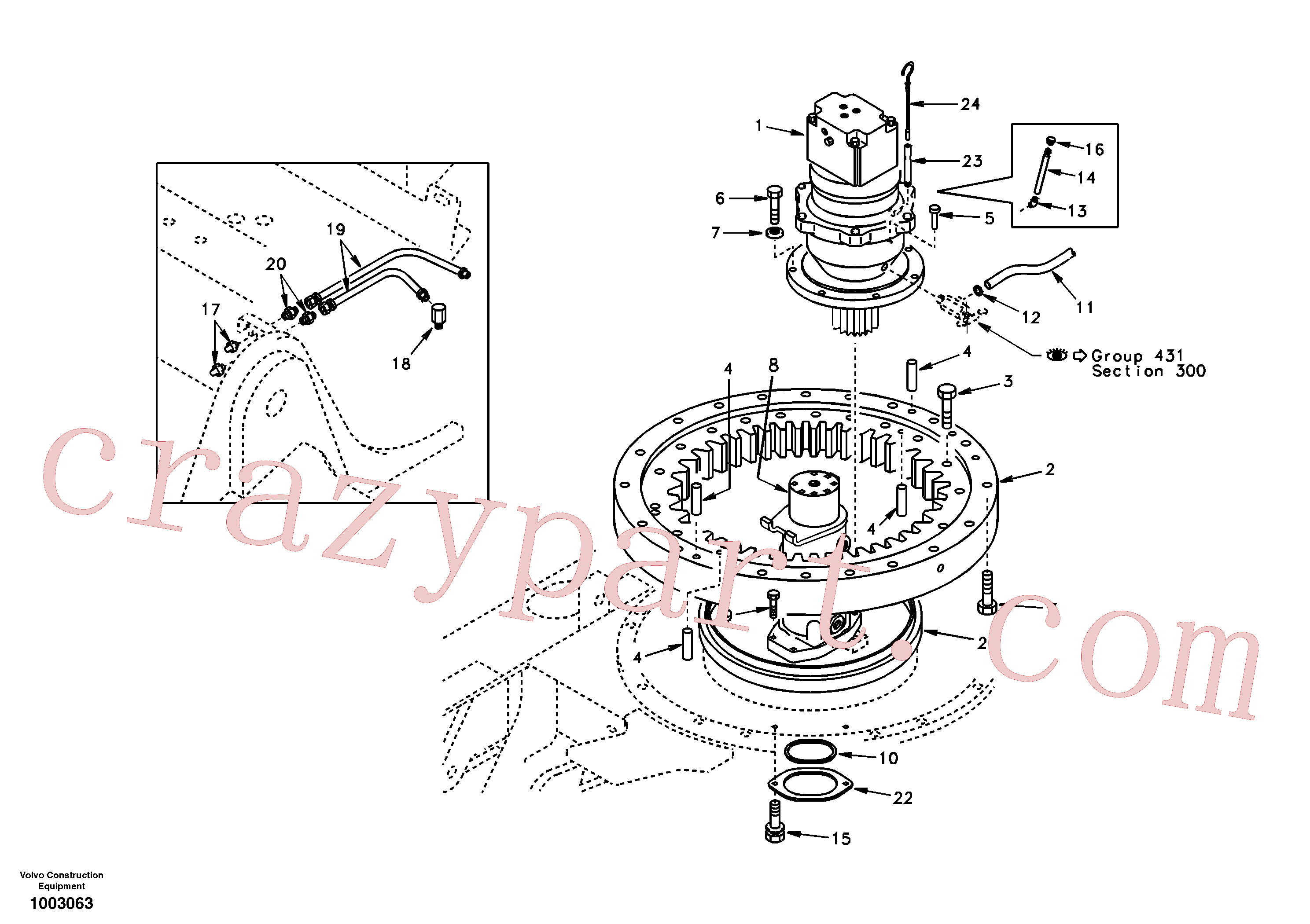 SA9349-00020 for Volvo Swing system(1003063 assembly)