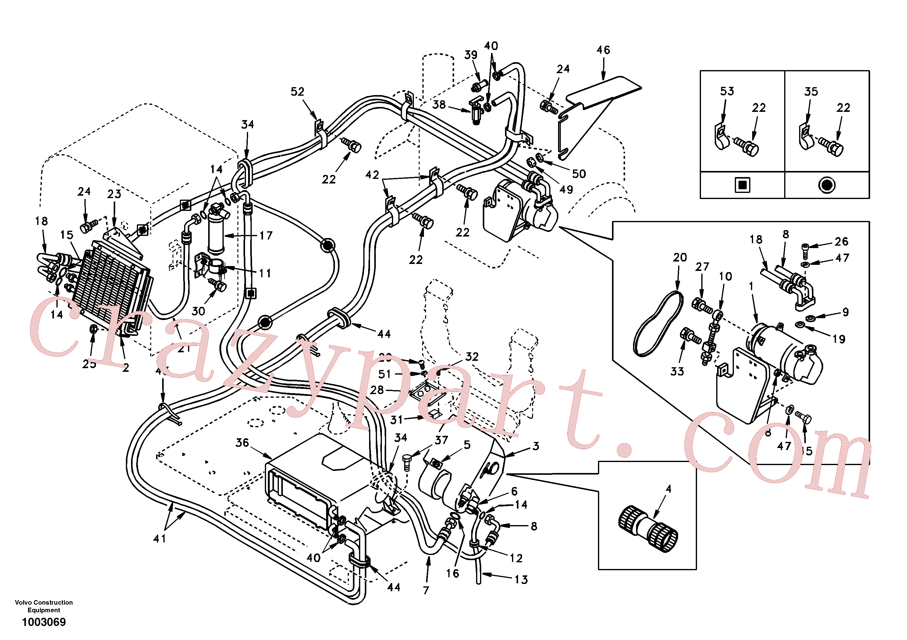 VOE14529046 for Volvo Air conditioning line, cooling and heater(1003069 assembly)