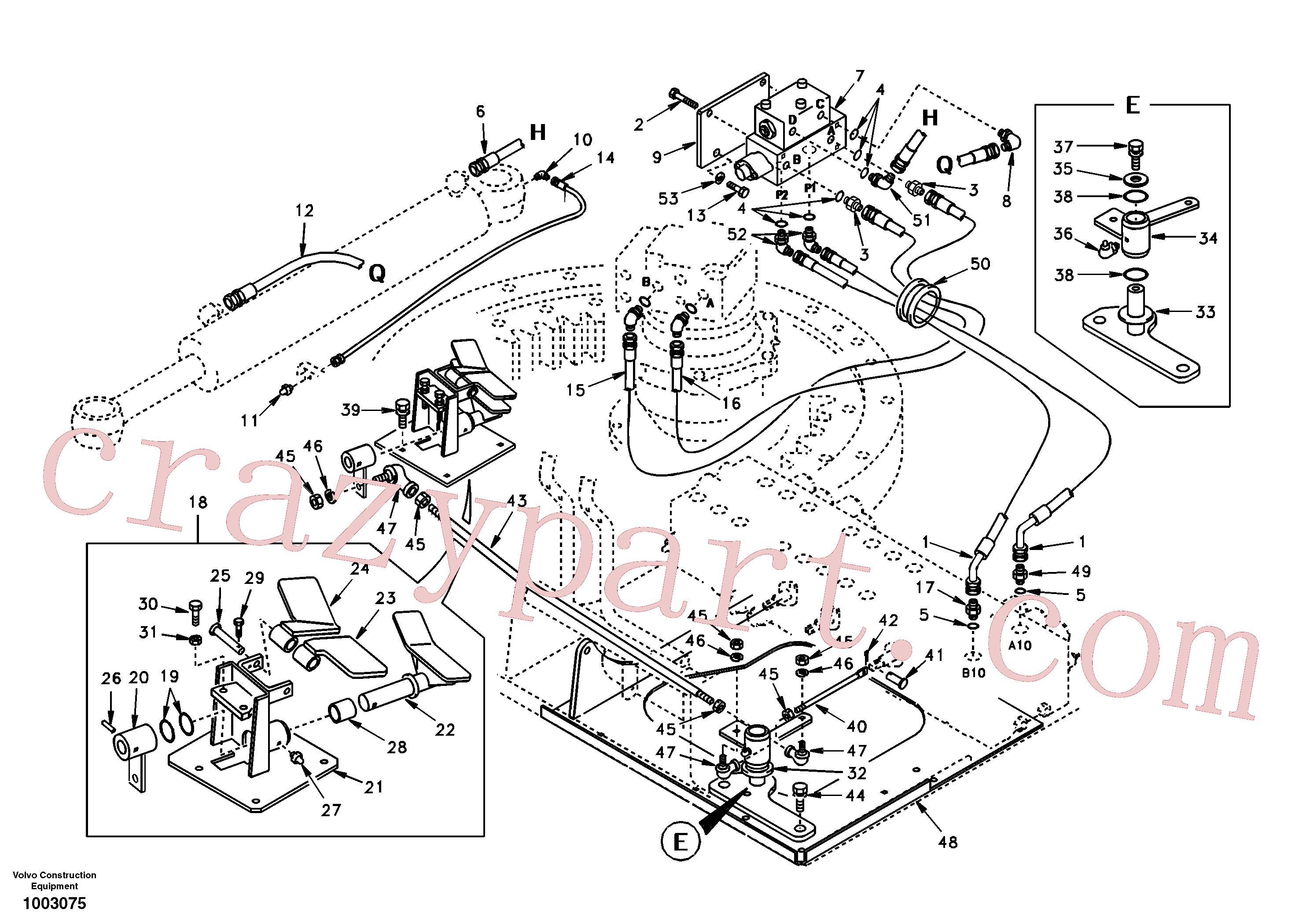 SA1138-30240 for Volvo Boom swing system(1003075 assembly)