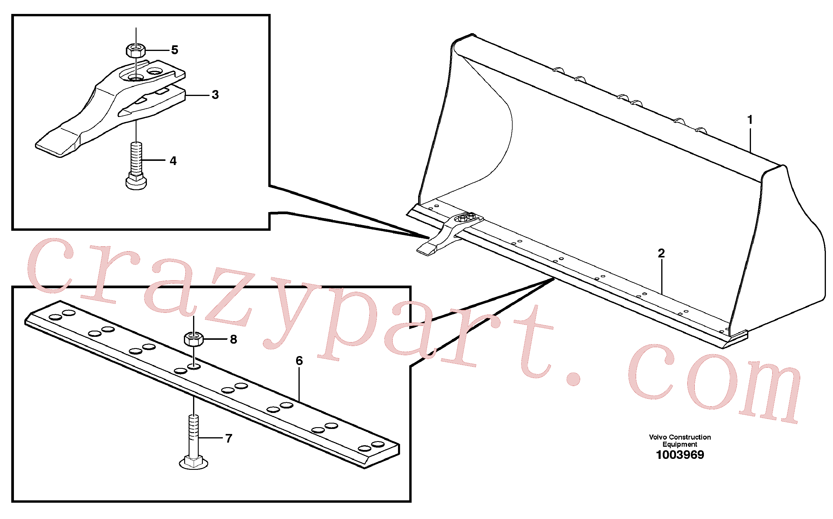 VOE11884026 for Volvo Bucket, straight with teeth(1003969 assembly)