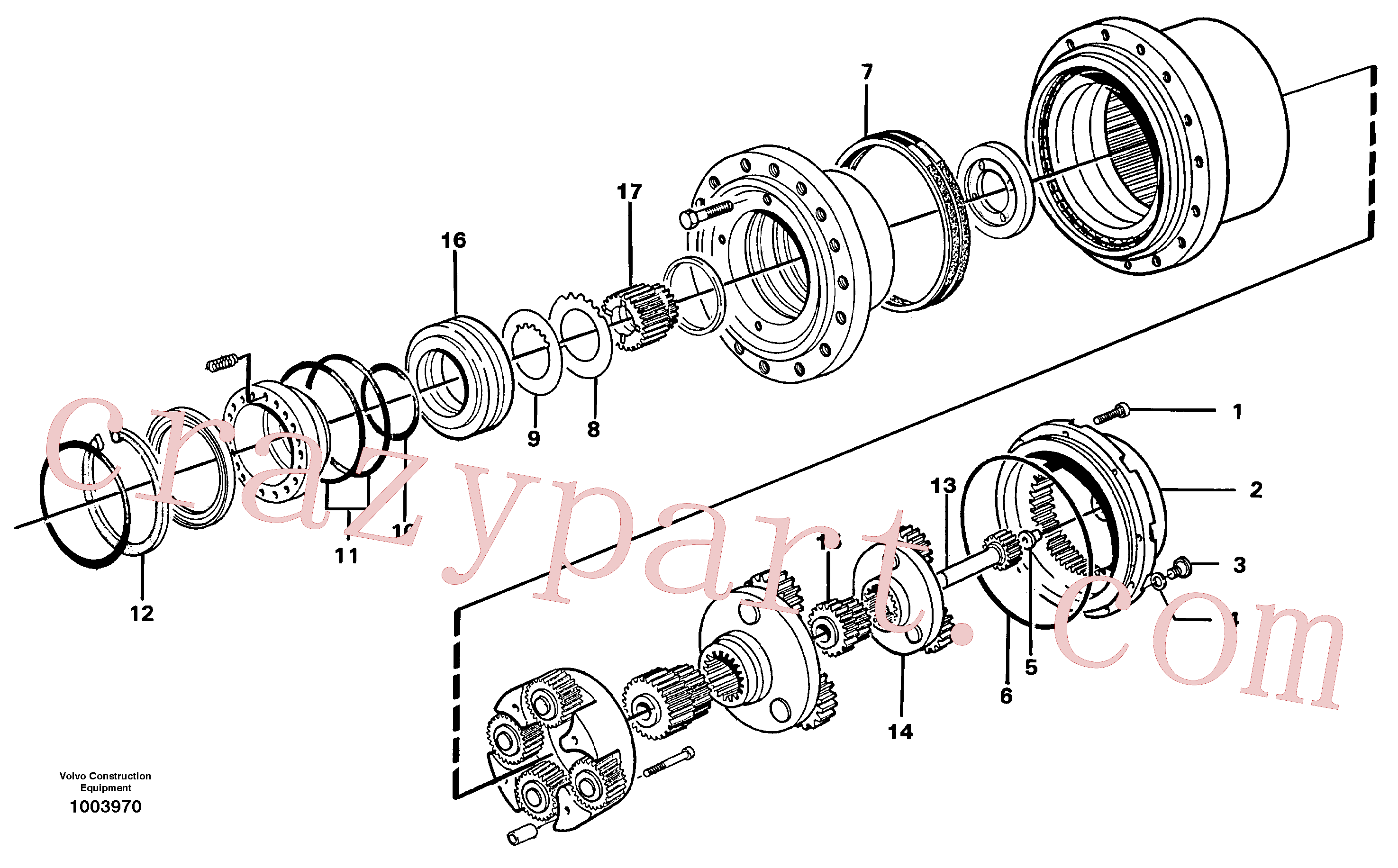 VOE14262906 for Volvo Planetary drive(1003970 assembly)