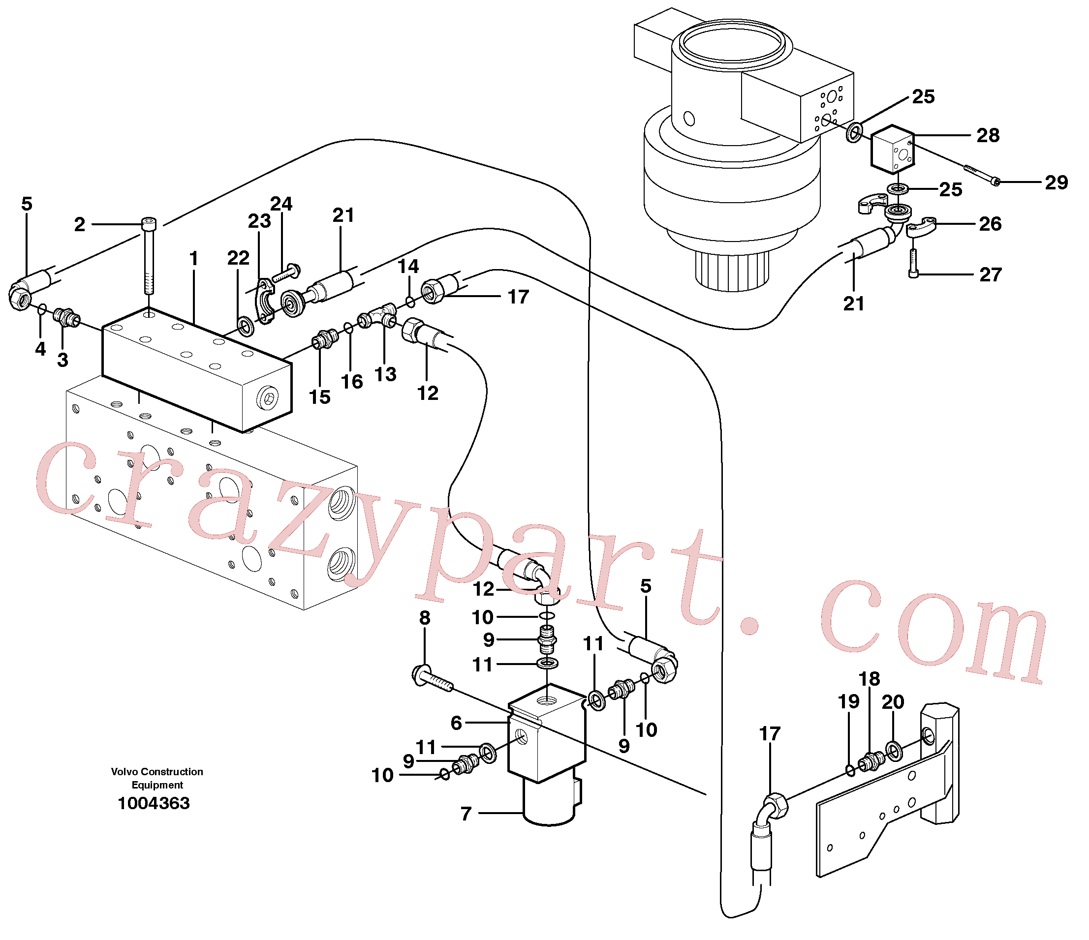 VOE14373061 for Volvo Hydraulic system, Float position valve(1004363 assembly)