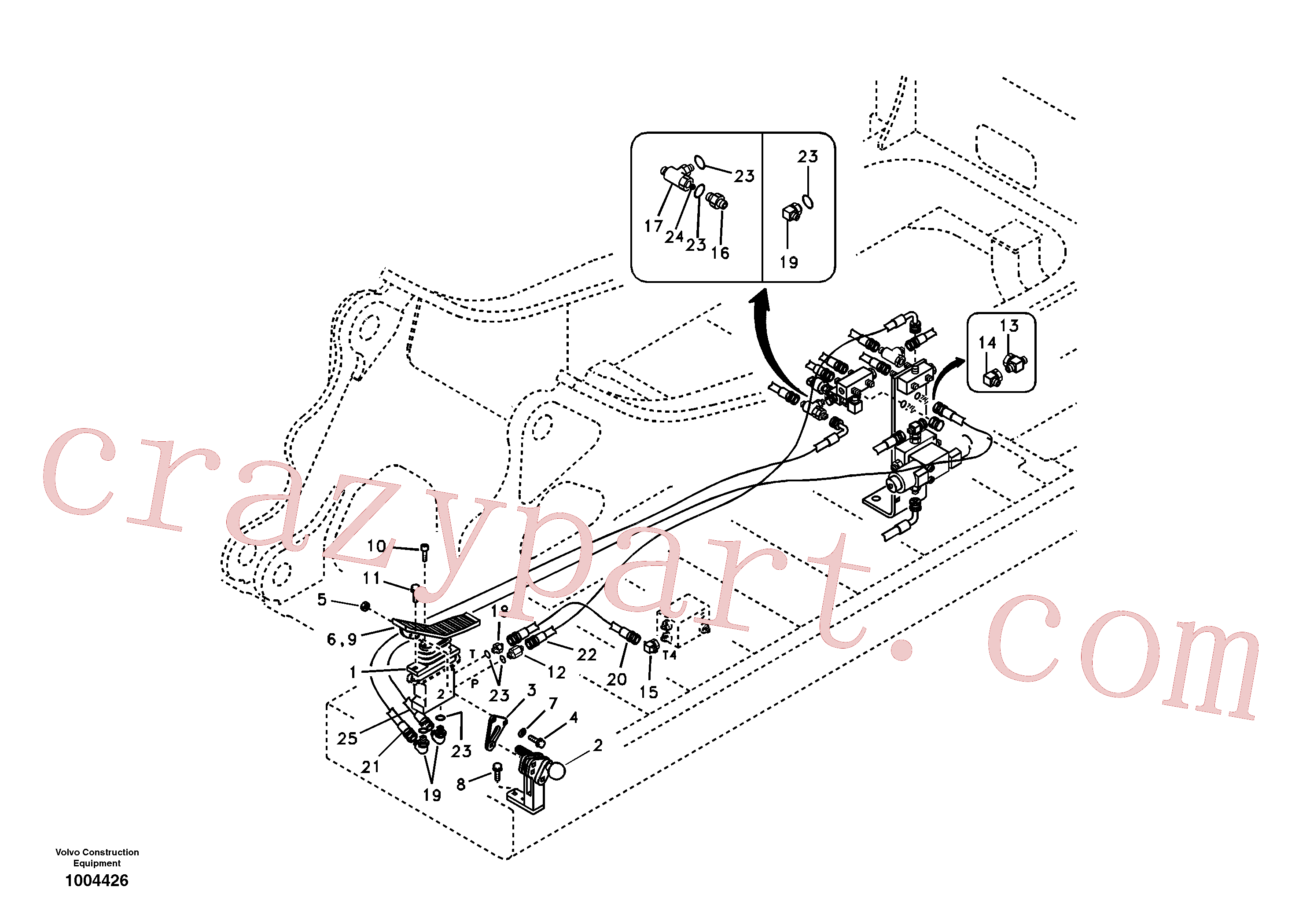 SA9453-03265 for Volvo Servo system, hammer and shear(1004426 assembly)