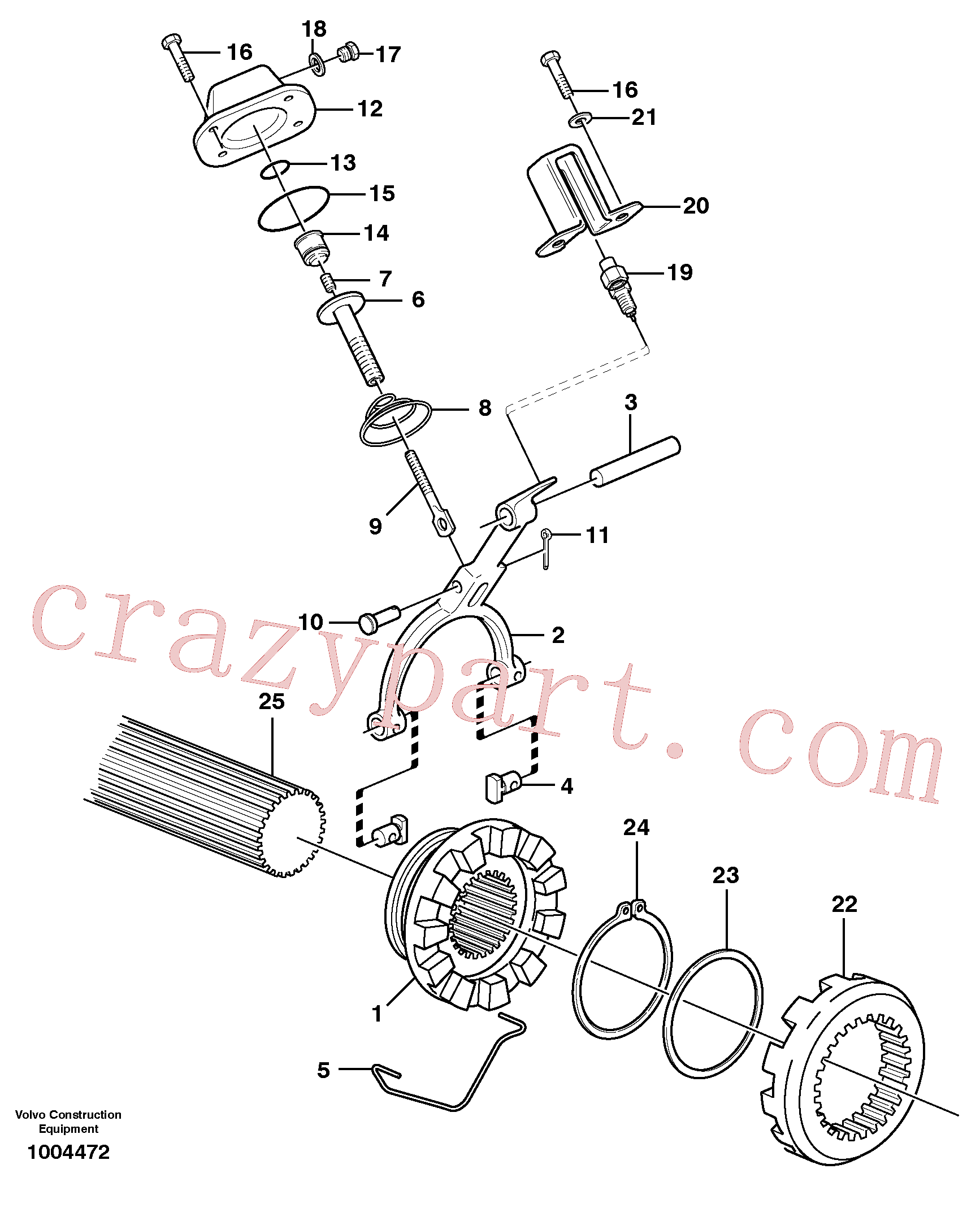 VOE7383971 for Volvo Differential lock(1004472 assembly)