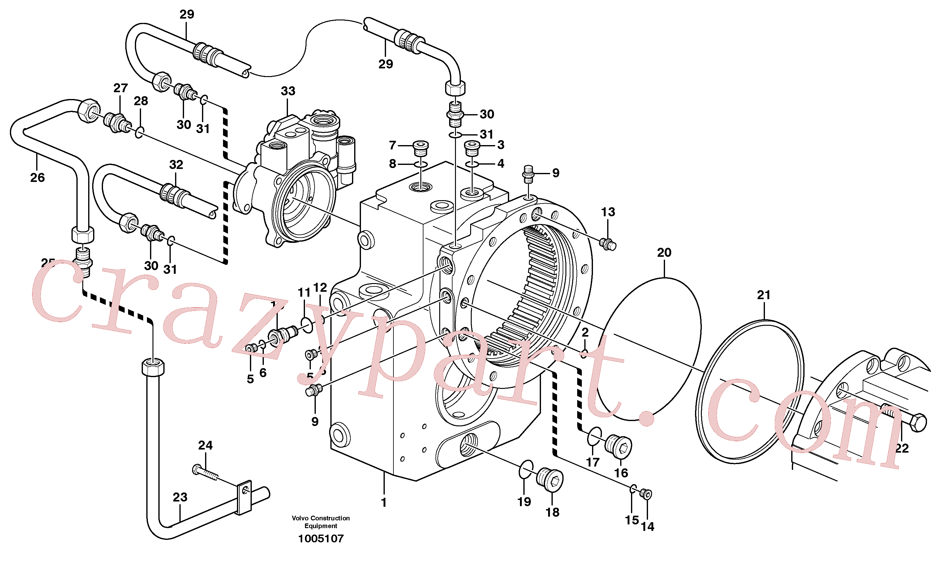 VOE959255 for Volvo Transfer gear box(1005107 assembly)