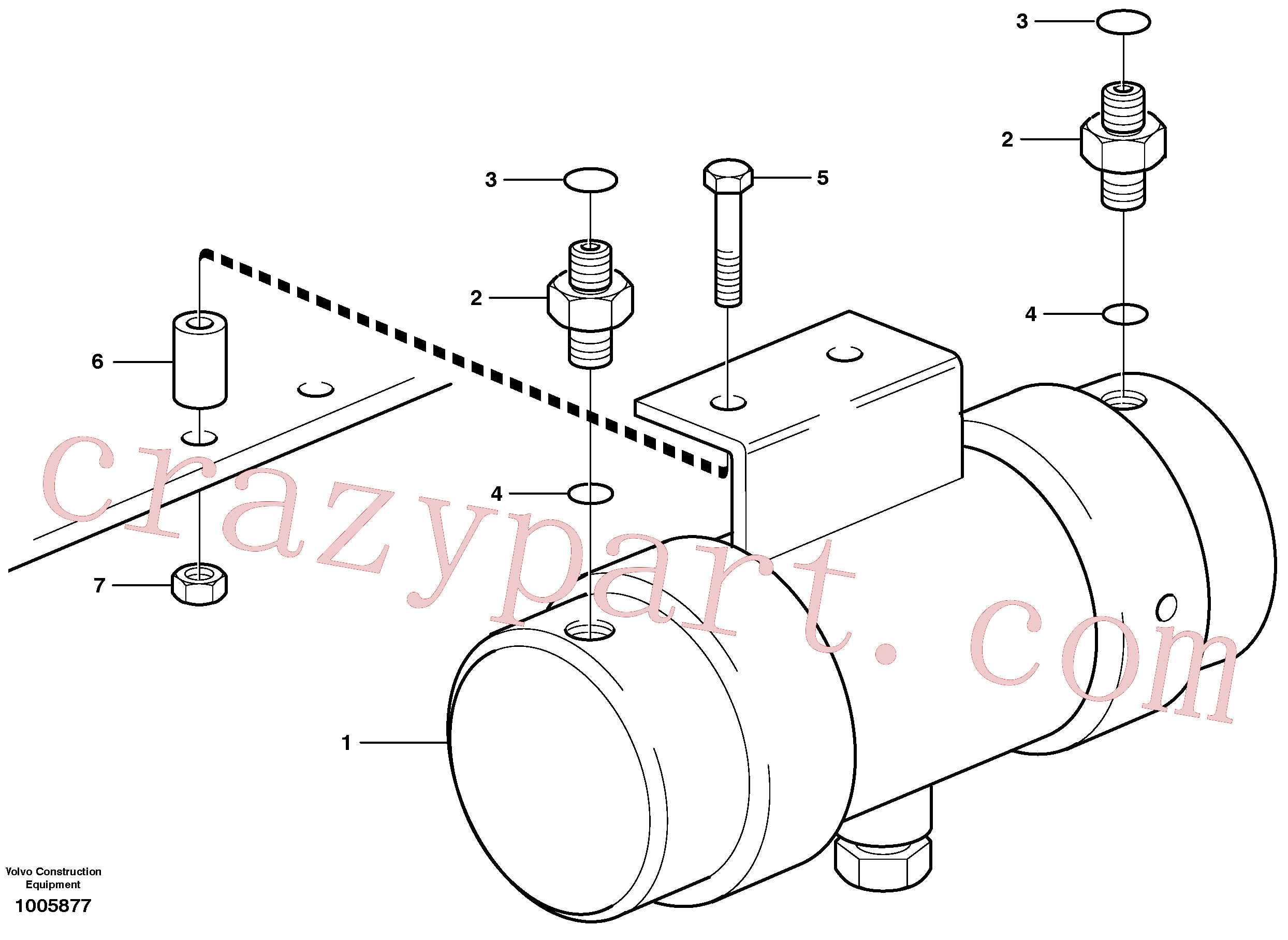 PJ5600200 for Volvo Damping cylinder with fitting parts(1005877 assembly)