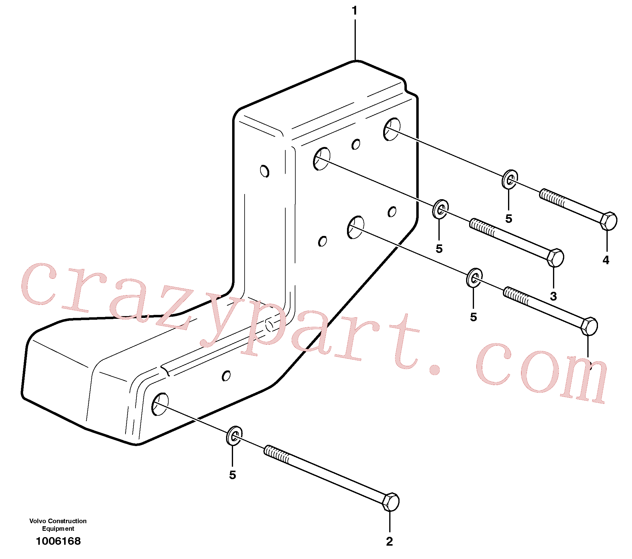 VOE928926 for Volvo Counterweight(1006168 assembly)