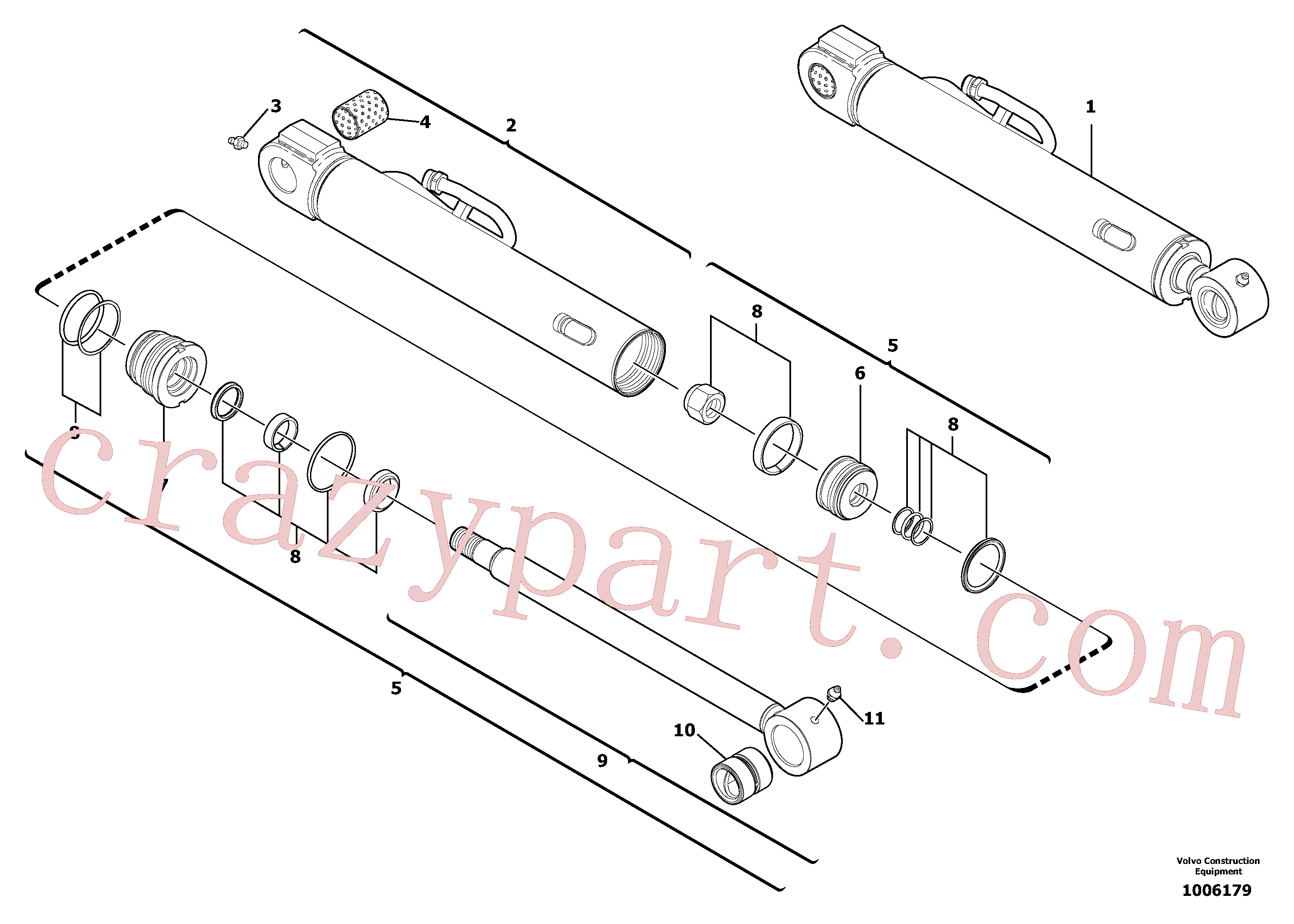 VOE11711123 for Volvo Bucket cylinder(1006179 assembly)