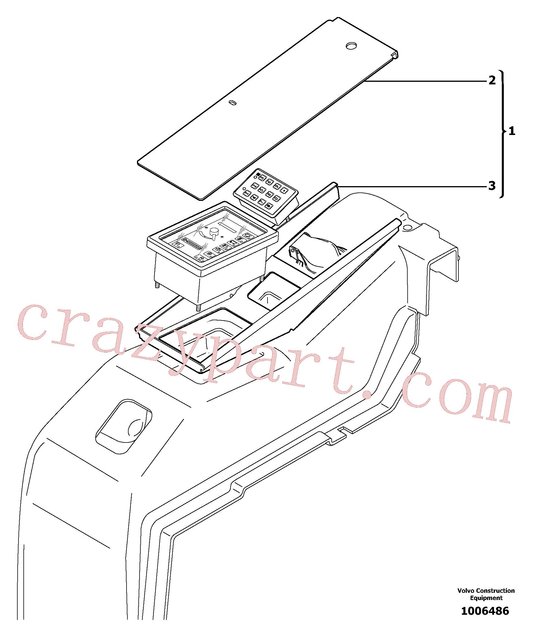 VOE11801736 for Volvo Anti-vandalism equipment(1006486 assembly)