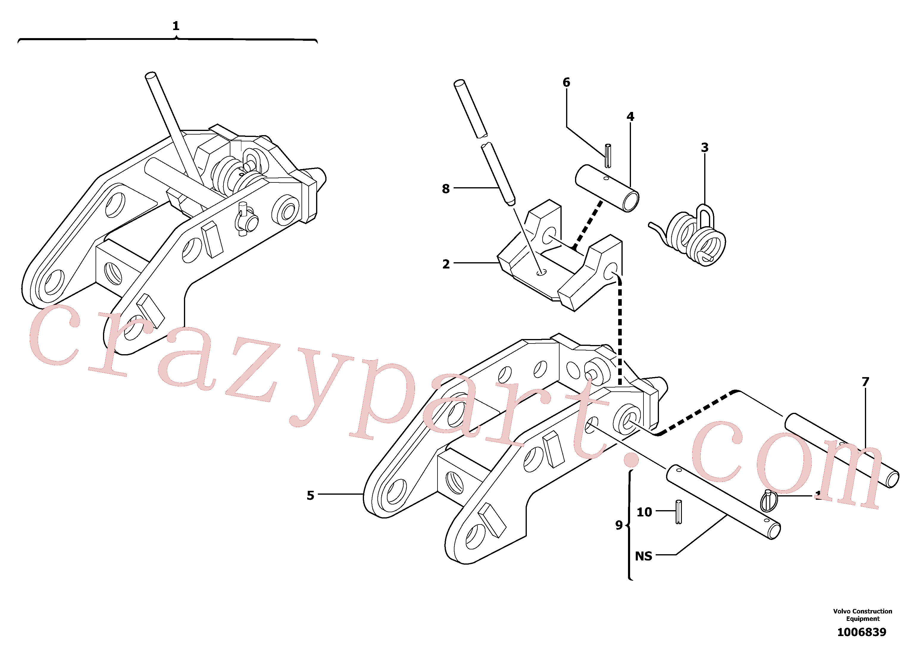 PJ3740043 for Volvo Tool holder / mechanical control(1006839 assembly)