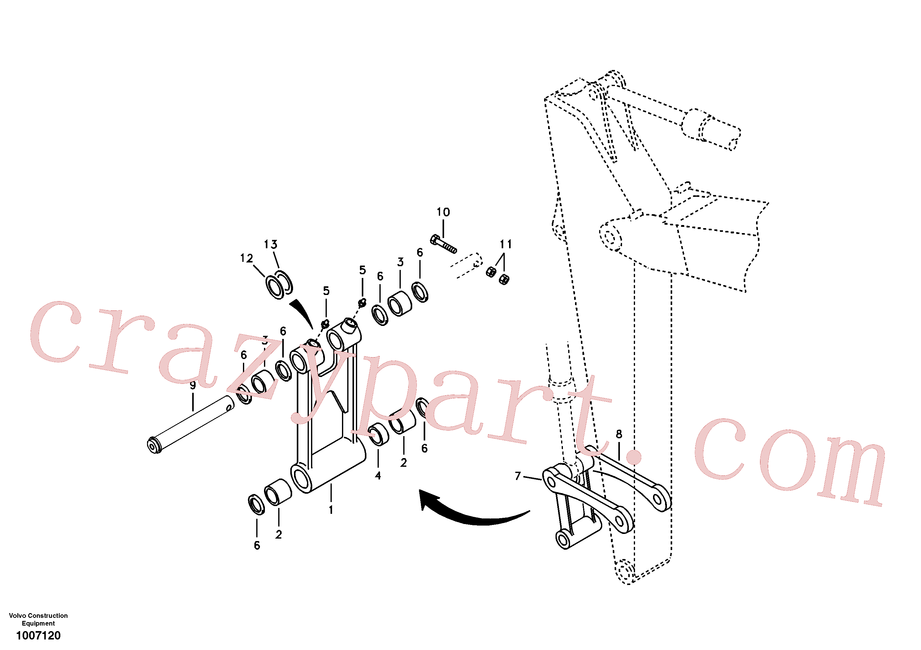 VOE14504211 for Volvo Links to connecting rod(1007120 assembly)