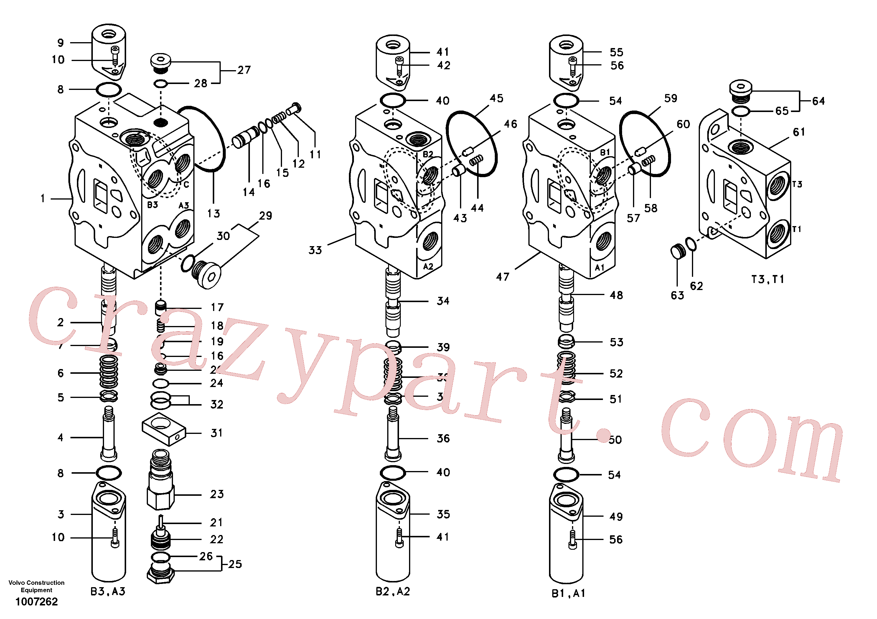 VOE14667608 for Volvo Main control valve, boom 1 and bucket and dipper arm 2 and outlet.(1007262 assembly)