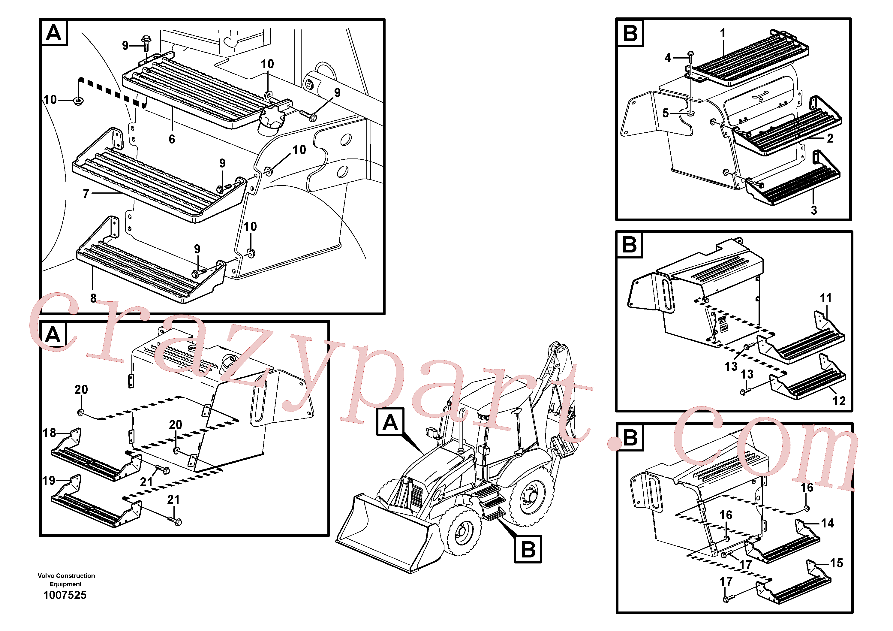 VOE14566759 for Volvo Foot step(1007525 assembly)