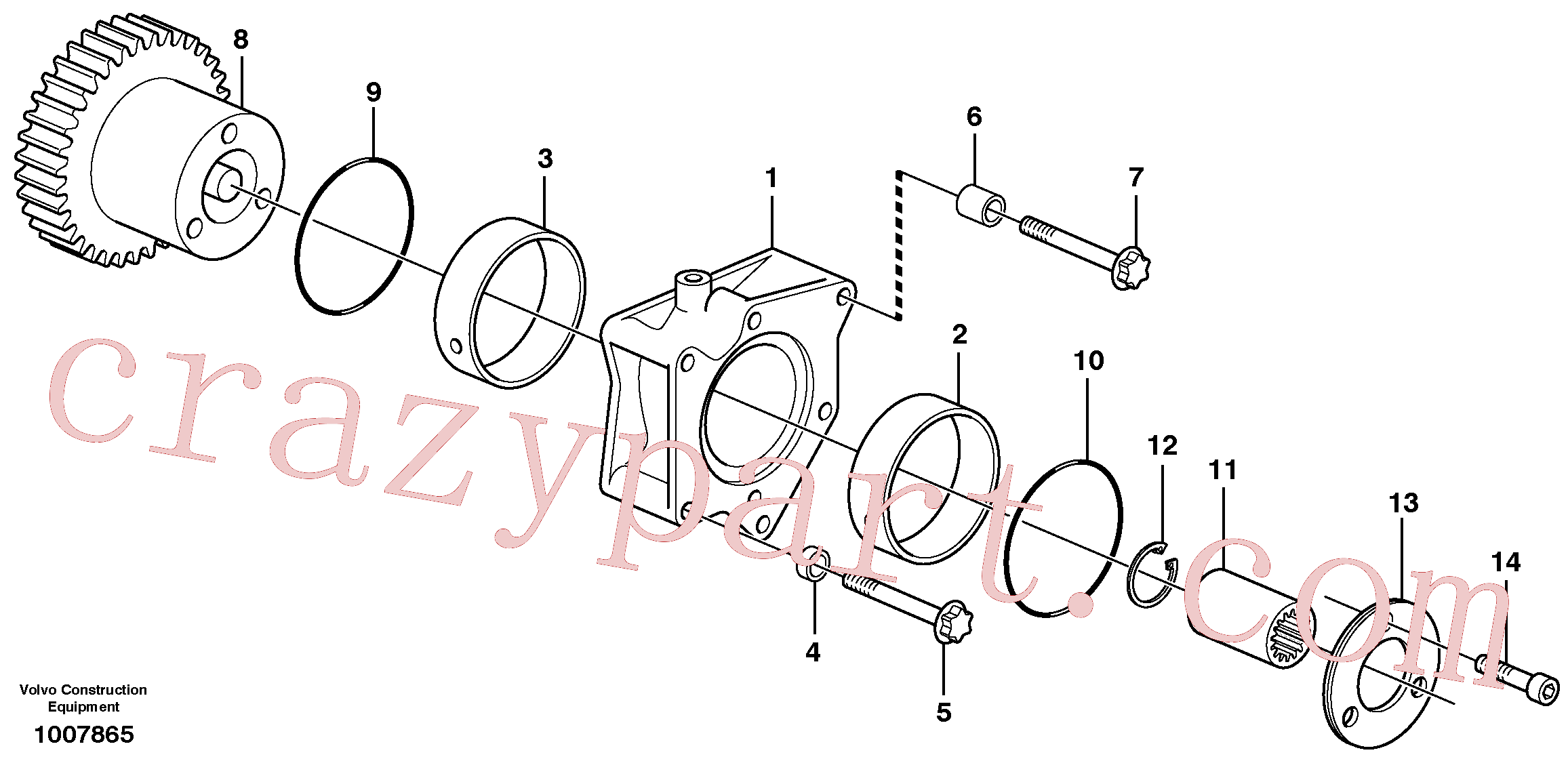 ZM2900650 for Volvo Pump drive power take-off(1007865 assembly)