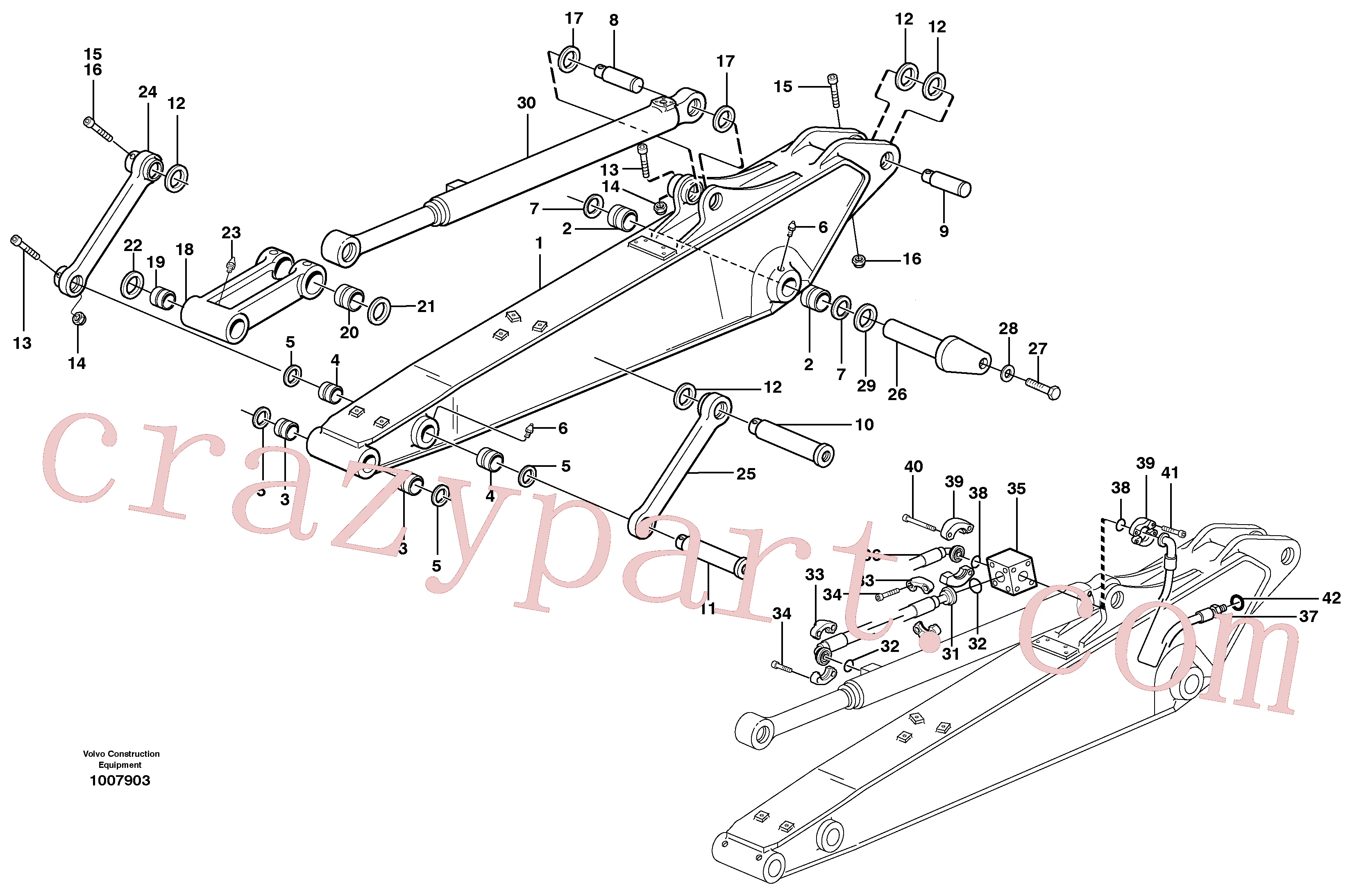 VOE14370081 for Volvo Dipper arm incl. connect.(1007903 assembly)