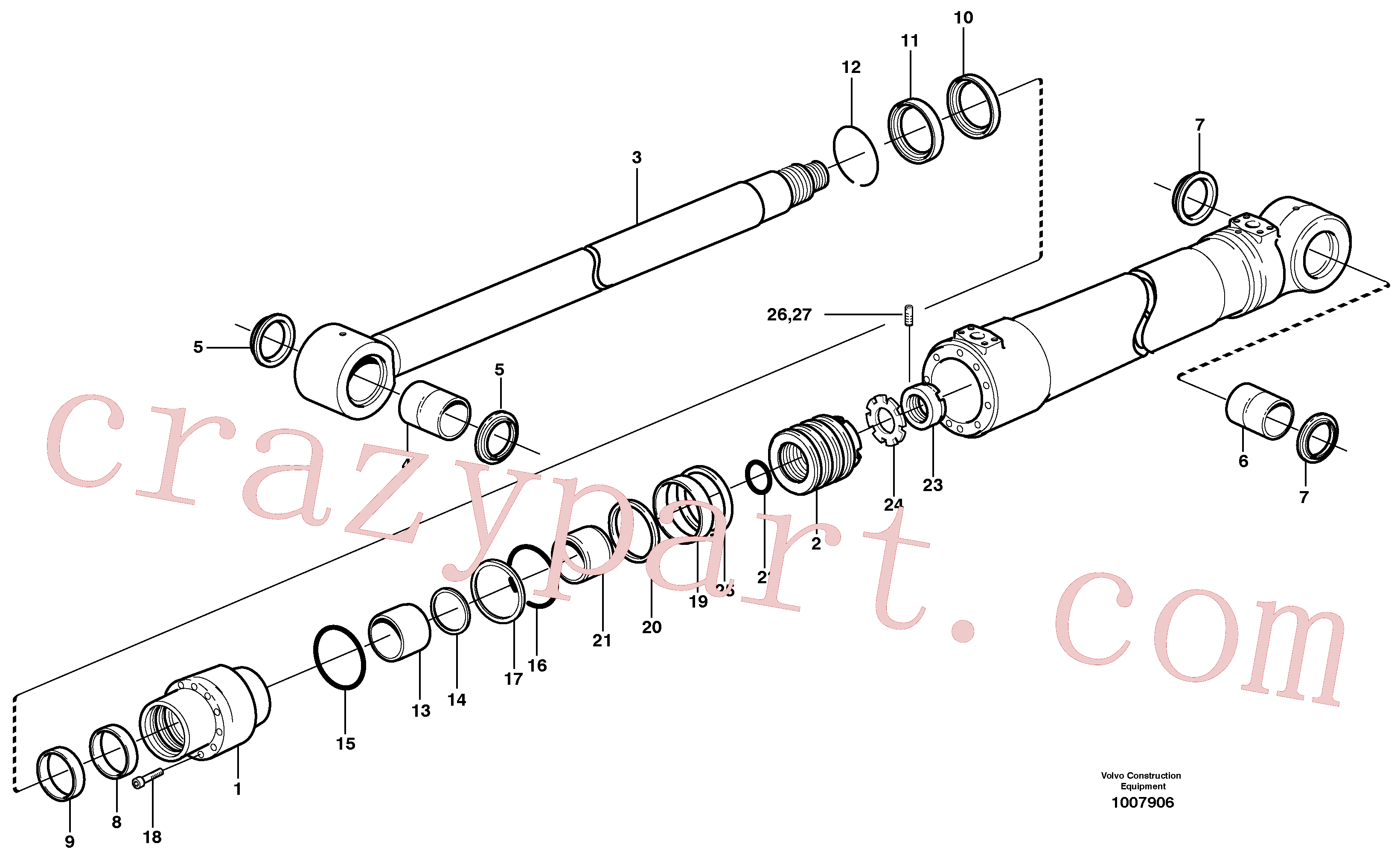SA9023-10802 for Volvo Bucket cylinder(1007906 assembly)