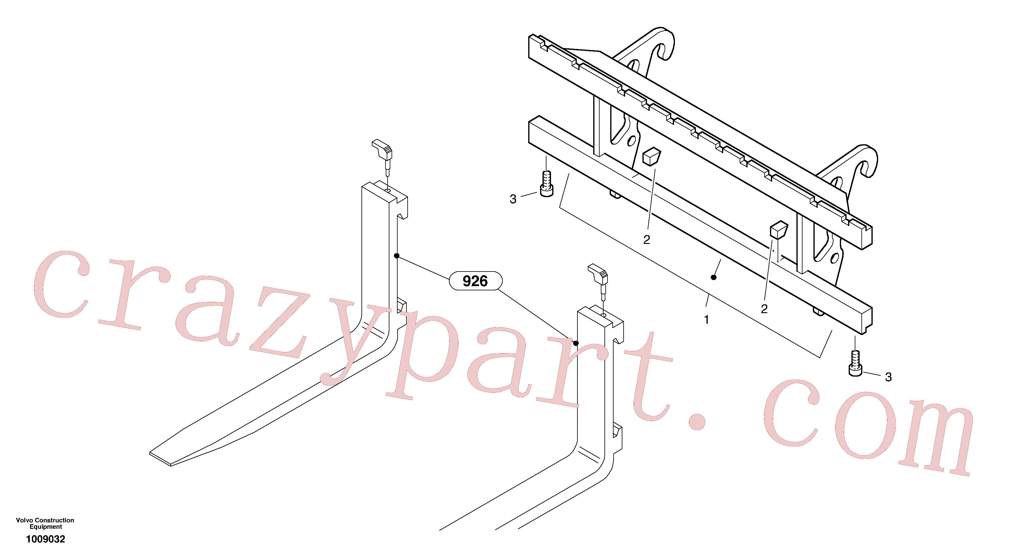 ZM2816503 for Volvo Fork lift attachment support(1009032 assembly)
