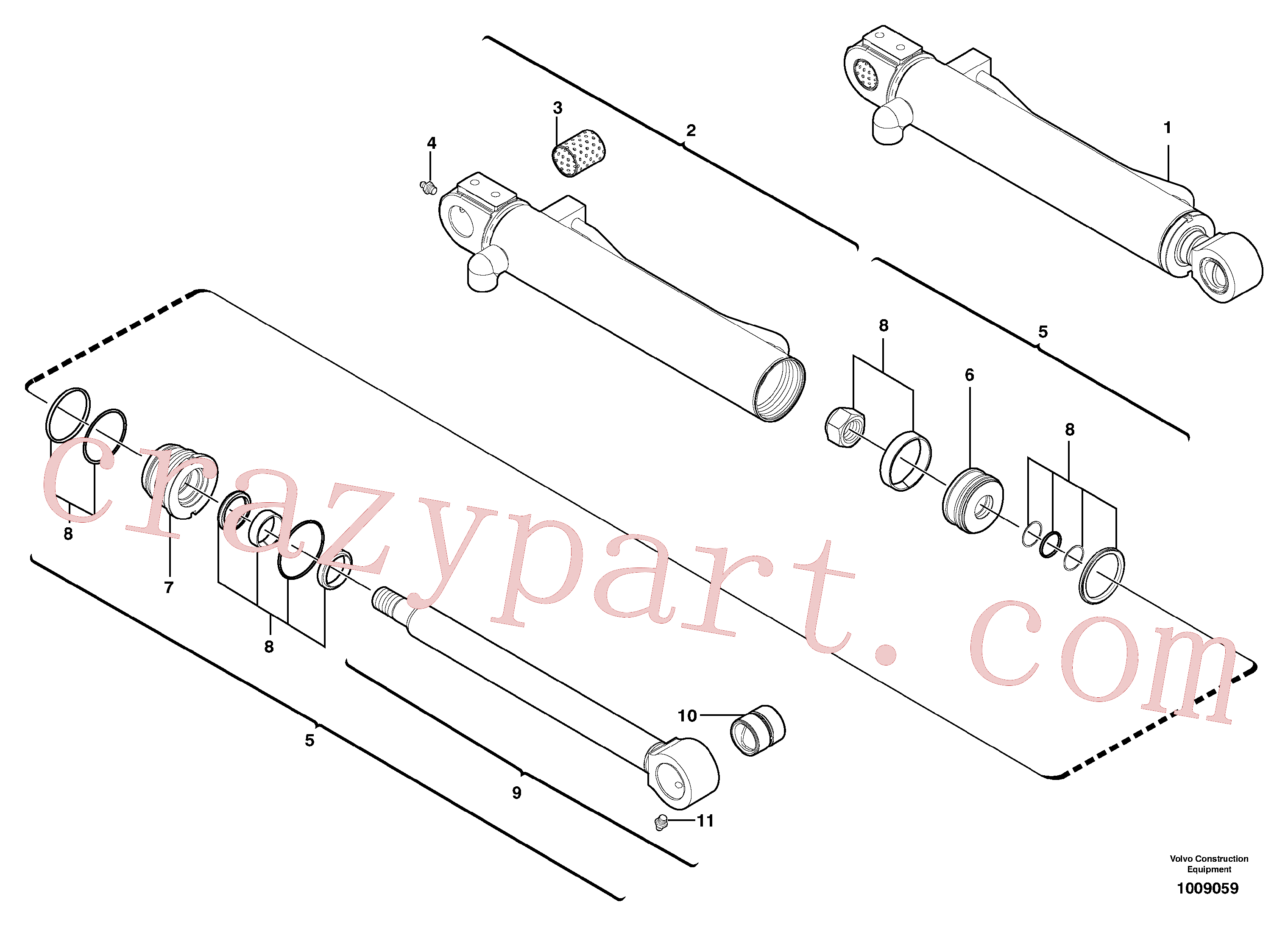 VOE11988470 for Volvo Bucket cylinder(1009059 assembly)