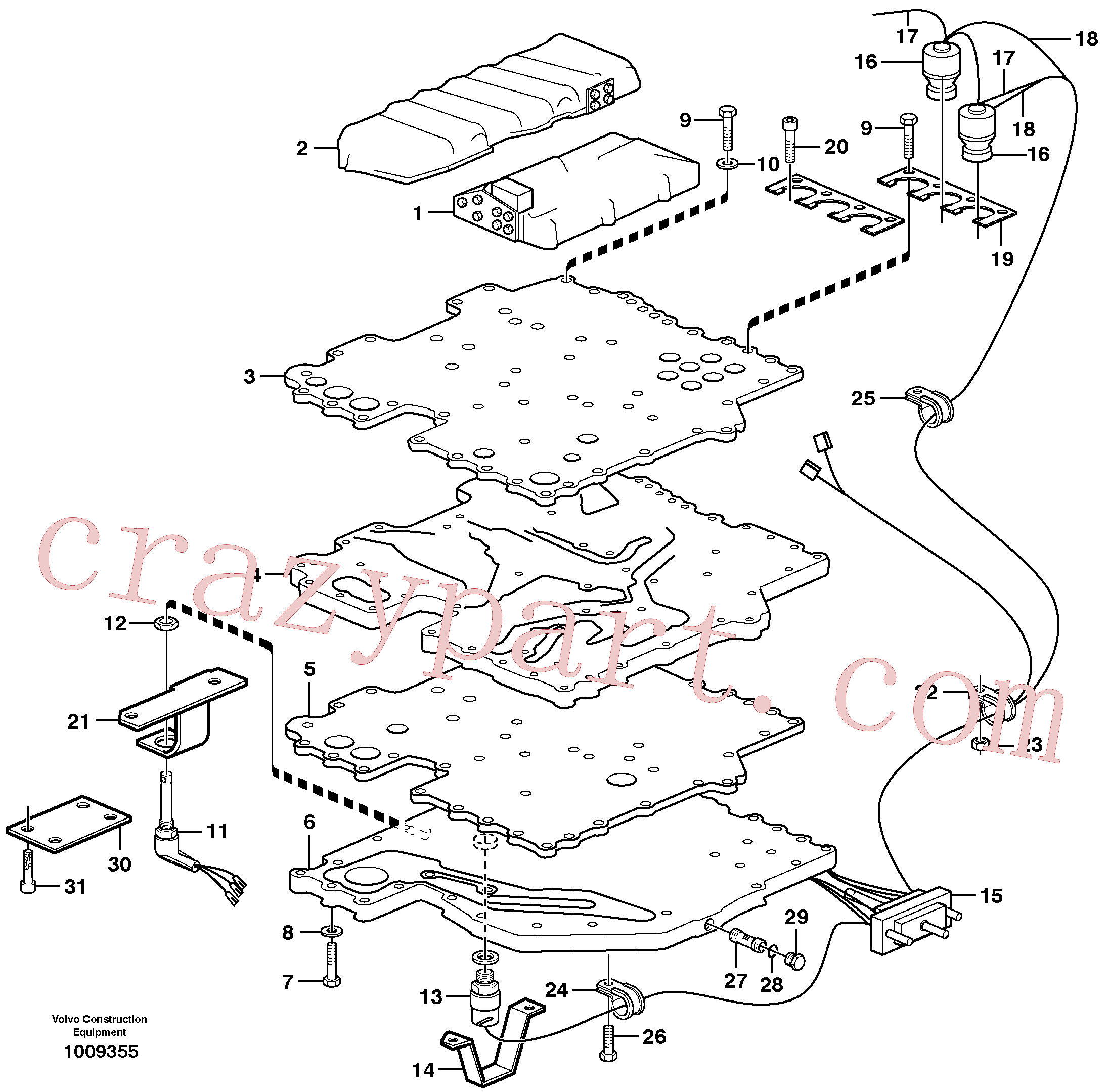 VOE940374 for Volvo Control system(1009355 assembly)