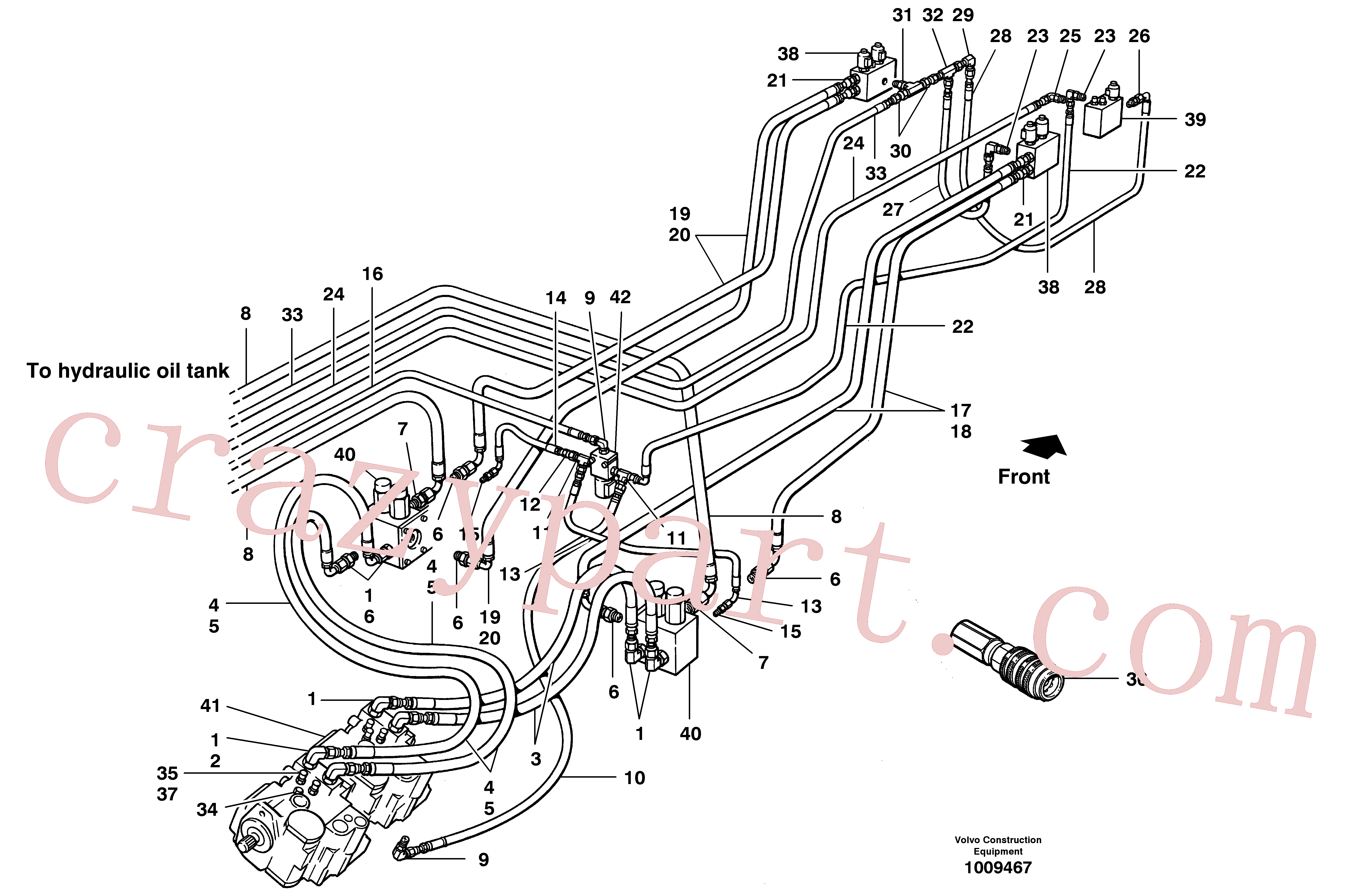 RM59158881 for Volvo Hydraulic circuit - free wheeling(1009467 assembly)