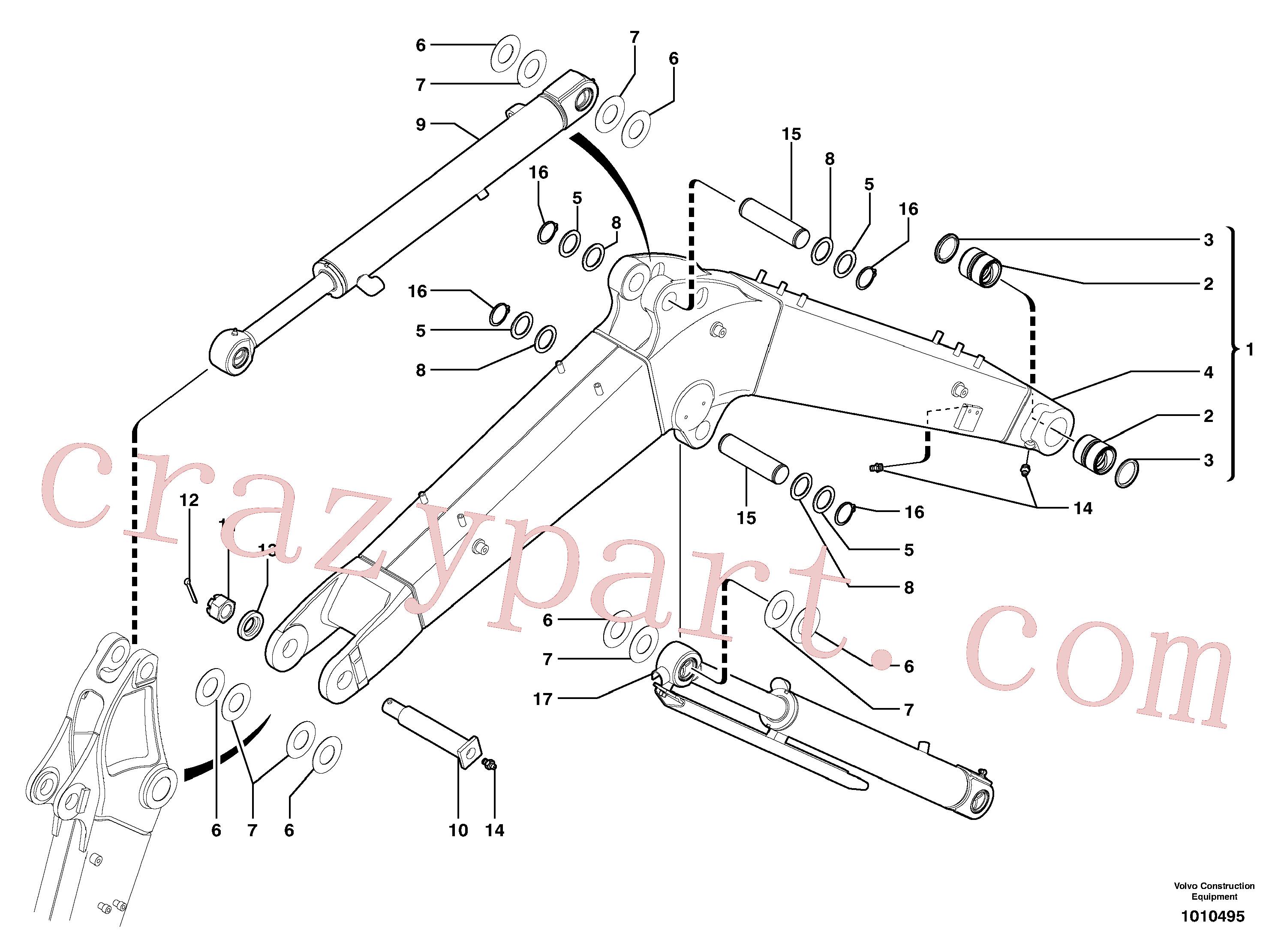 PJ4430003 for Volvo Boom(1010495 assembly)