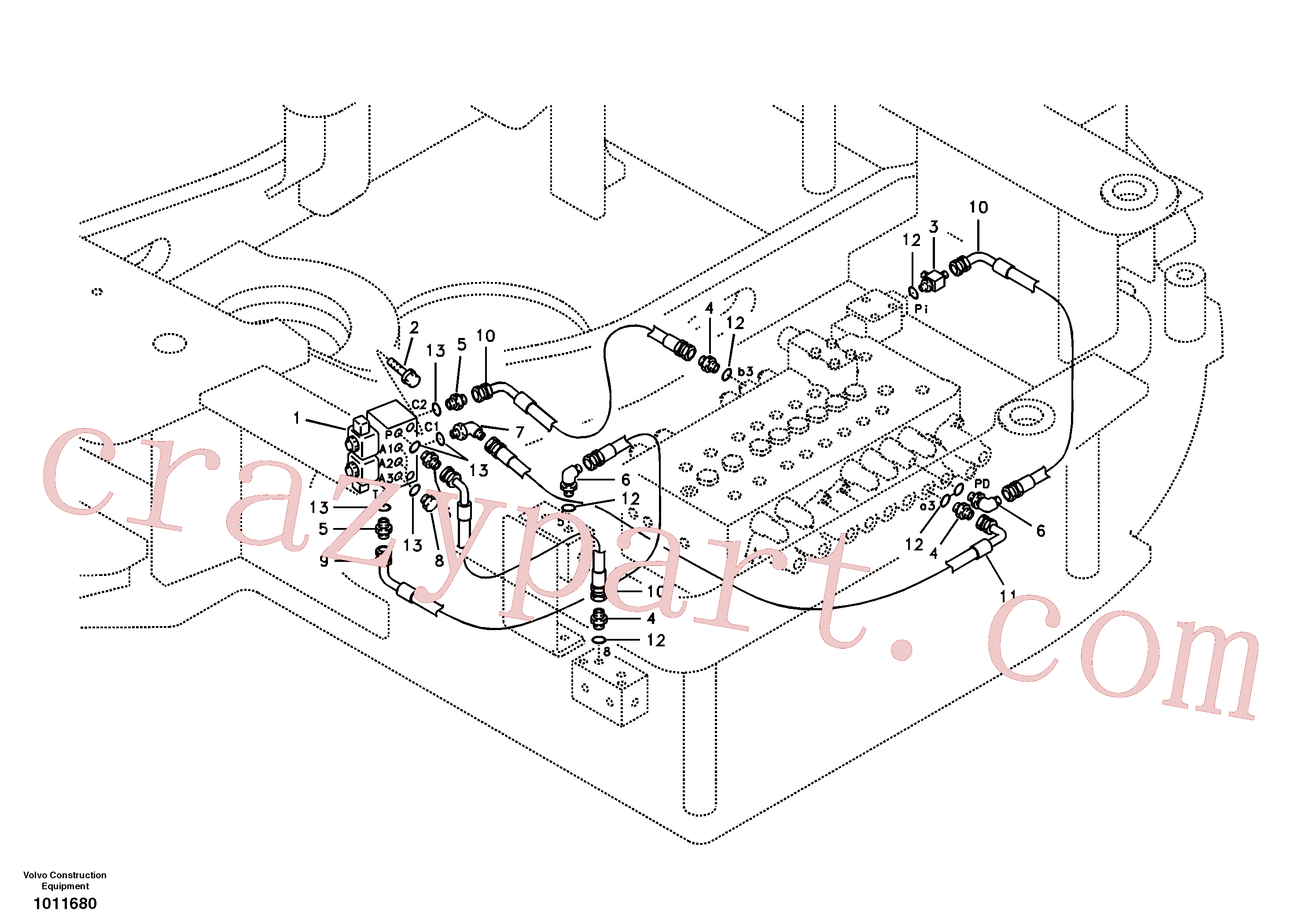 VOE11801755 for Volvo Servo system, hammer and shear(1011680 assembly)
