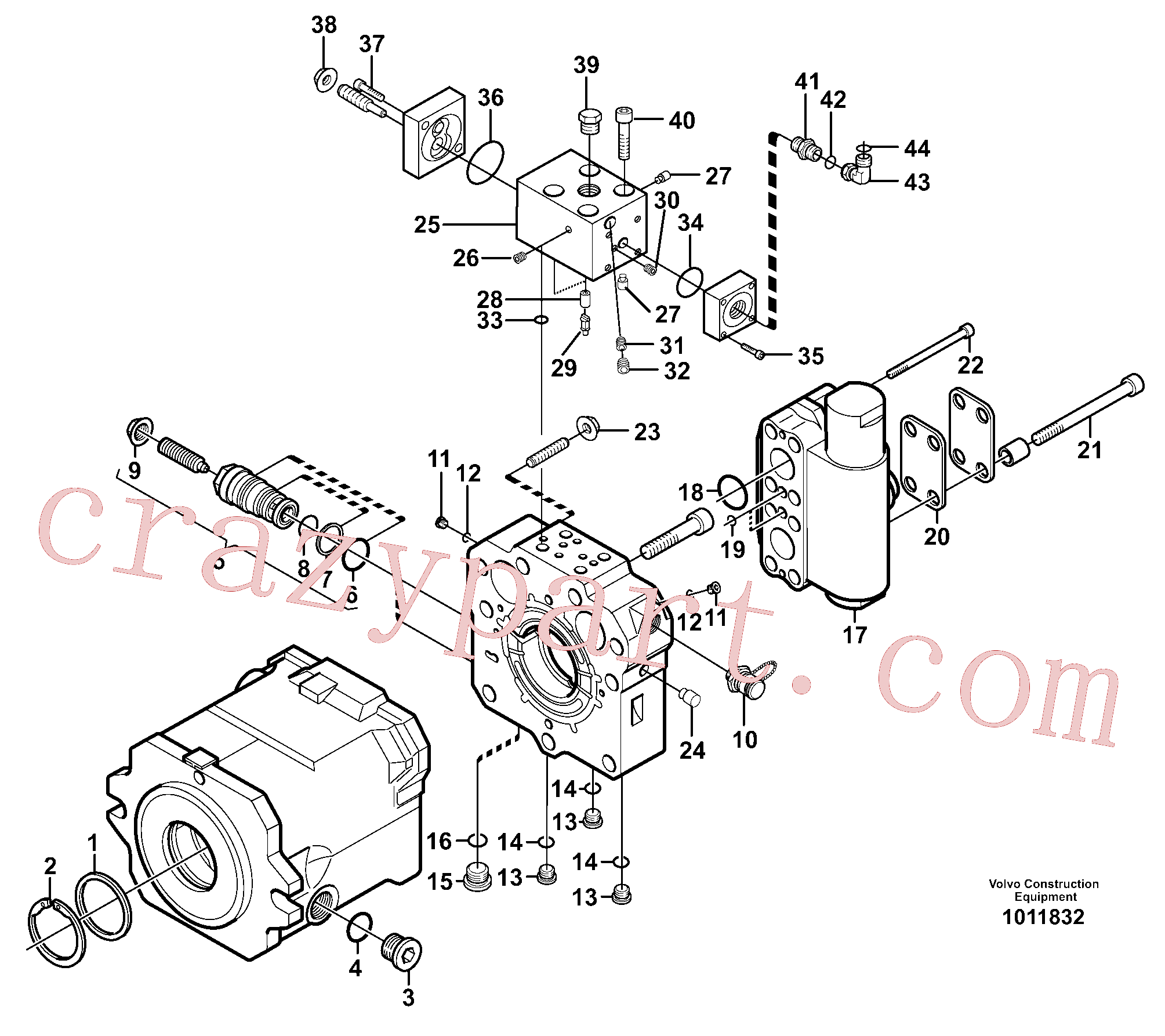 VOE11705602 for Volvo Travel motor(1011832 assembly)