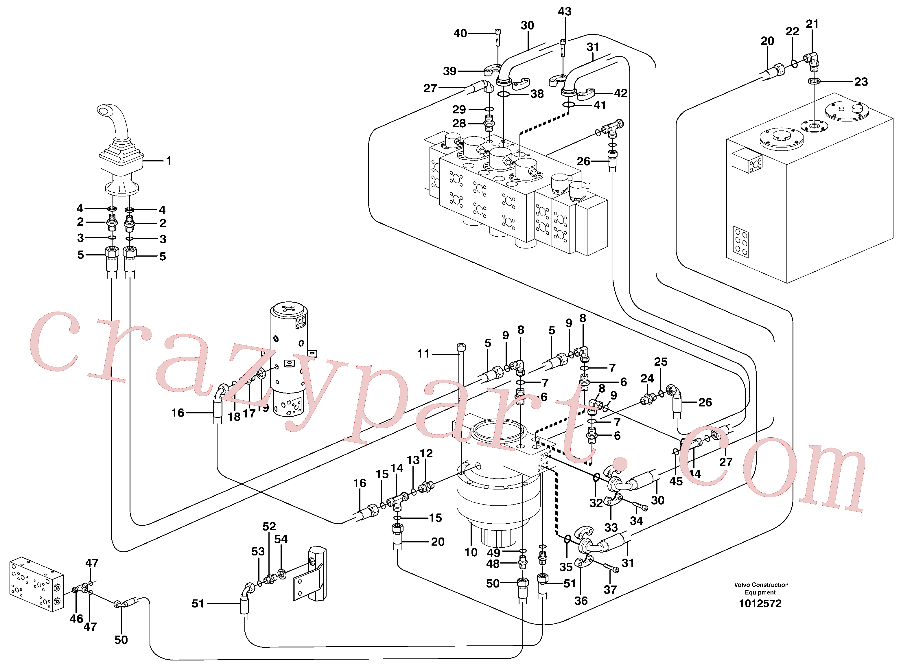 VOE14347101 for Volvo Servo hydraulics, Slewing(1012572 assembly)