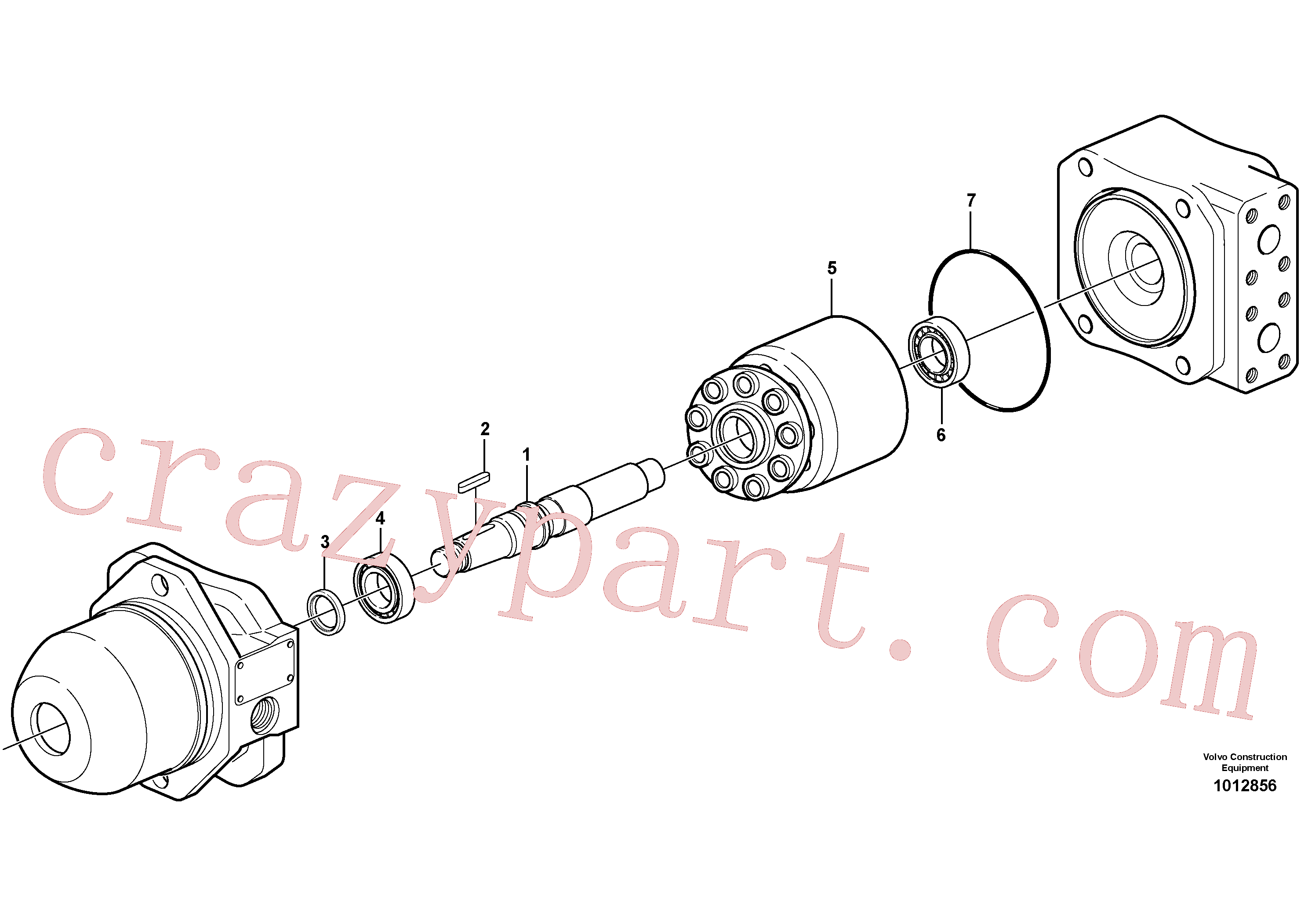 PJ7412842 for Volvo Hydraulic motor(1012856 assembly)