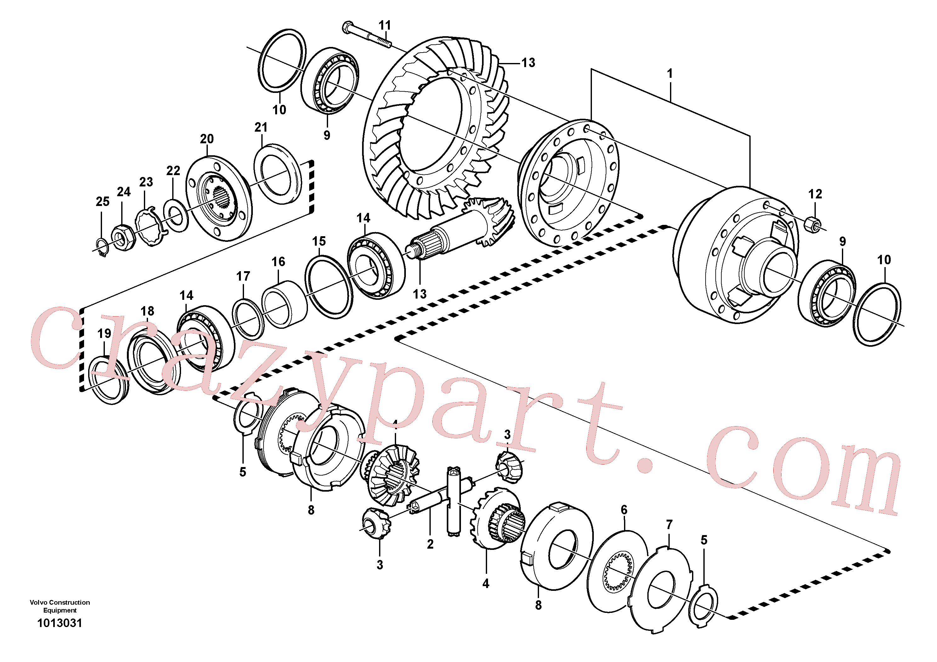 VOE11168039 for Volvo Final drive, rear(1013031 assembly)