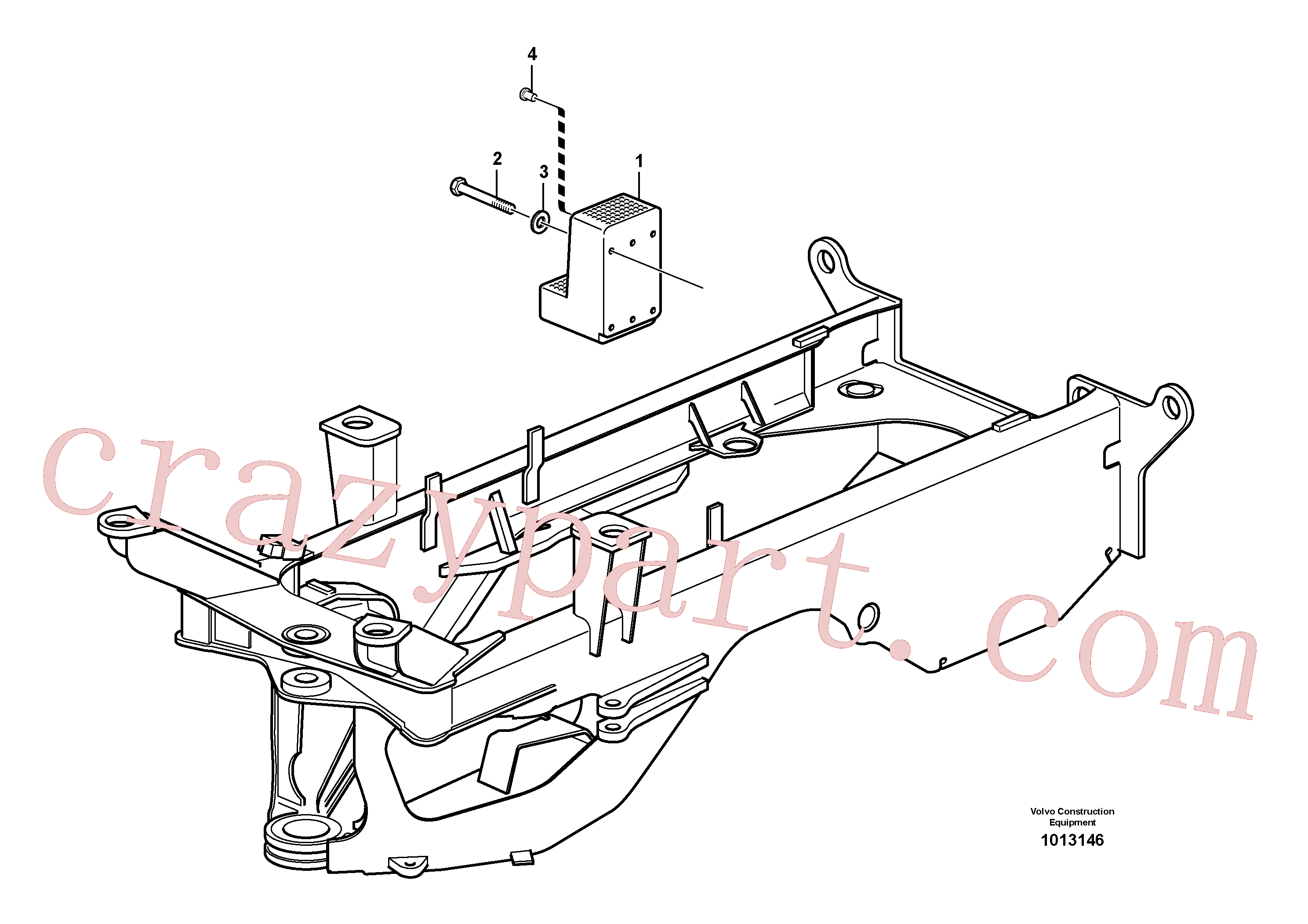 ZM7097118 for Volvo Counterweight(1013146 assembly)