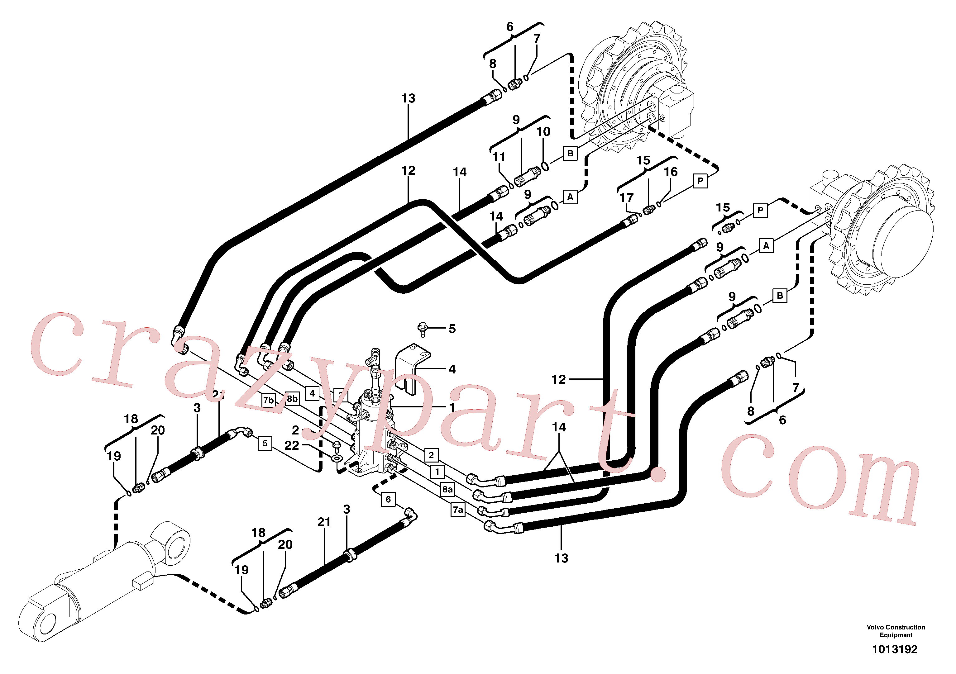 PJ4755048 for Volvo Hydraulic circuit ( lower frame )(1013192 assembly)