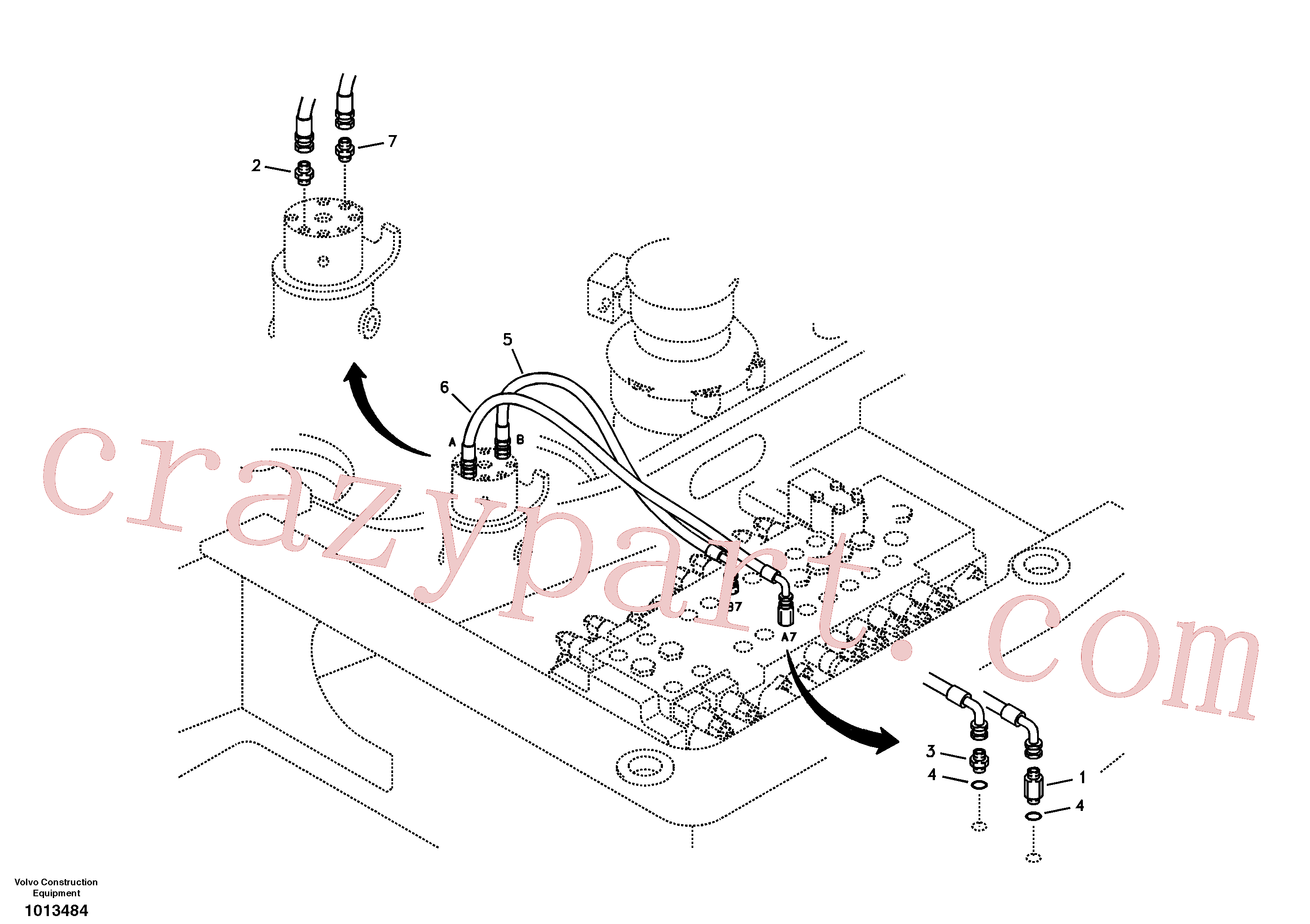 SA9453-03620 for Volvo Working hydraulic, dozer blade(1013484 assembly)