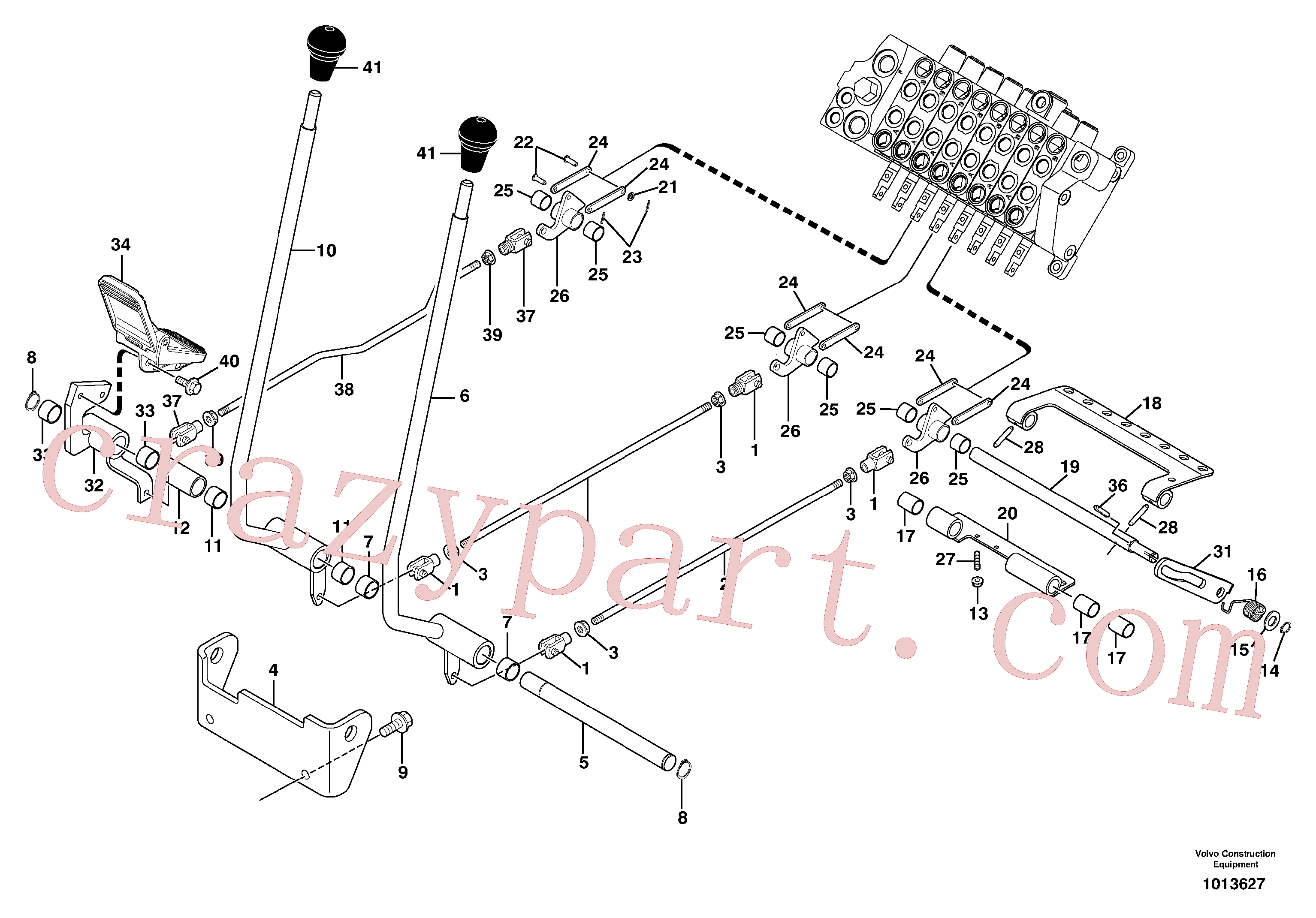 VOE11806158 for Volvo Control levers : travelling / accessories(1013627 assembly)