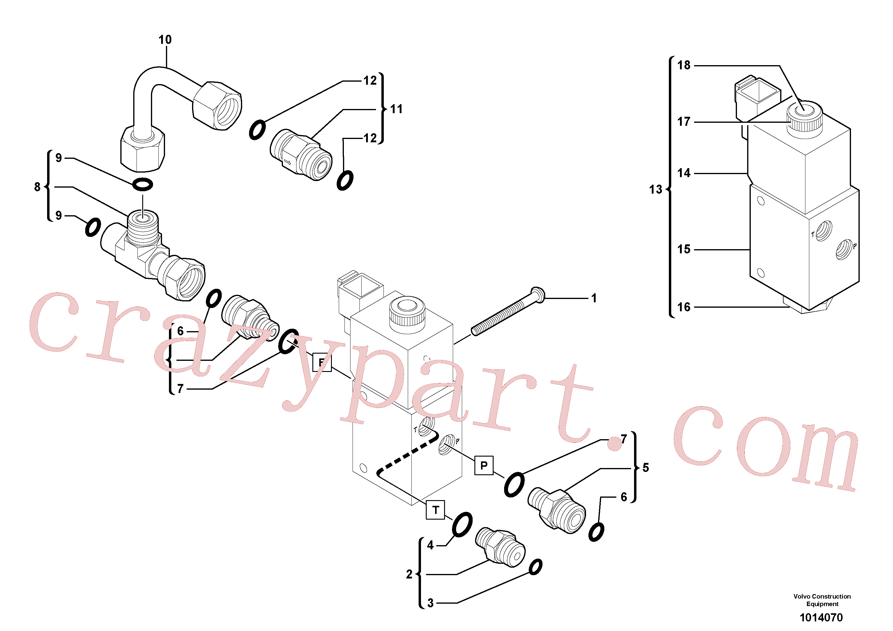 VOE11713204 for Volvo Electrovalve installation(1014070 assembly)