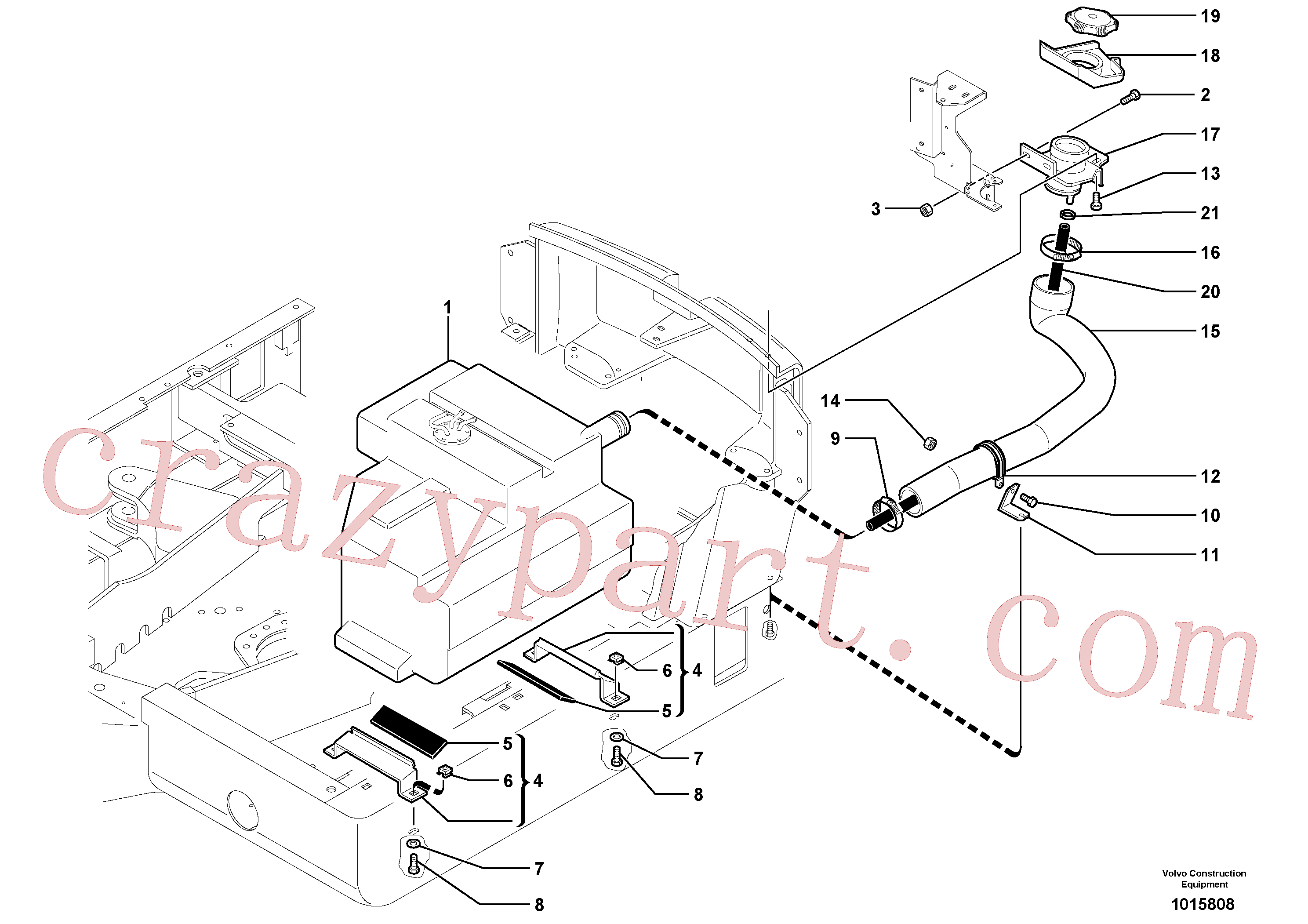 PJ4690750 for Volvo Fuel circuit(1015808 assembly)