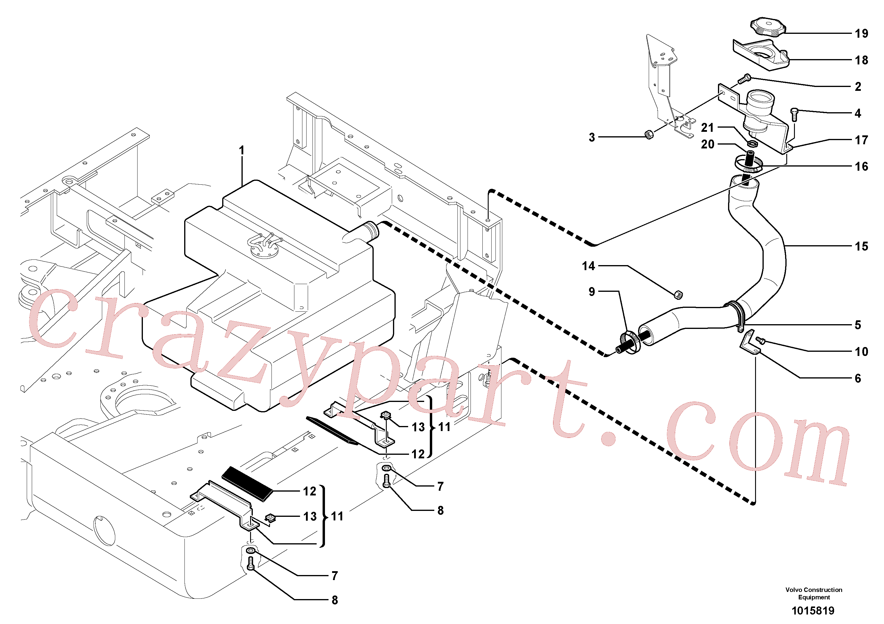 PJ4690750 for Volvo Fuel circuit(1015819 assembly)