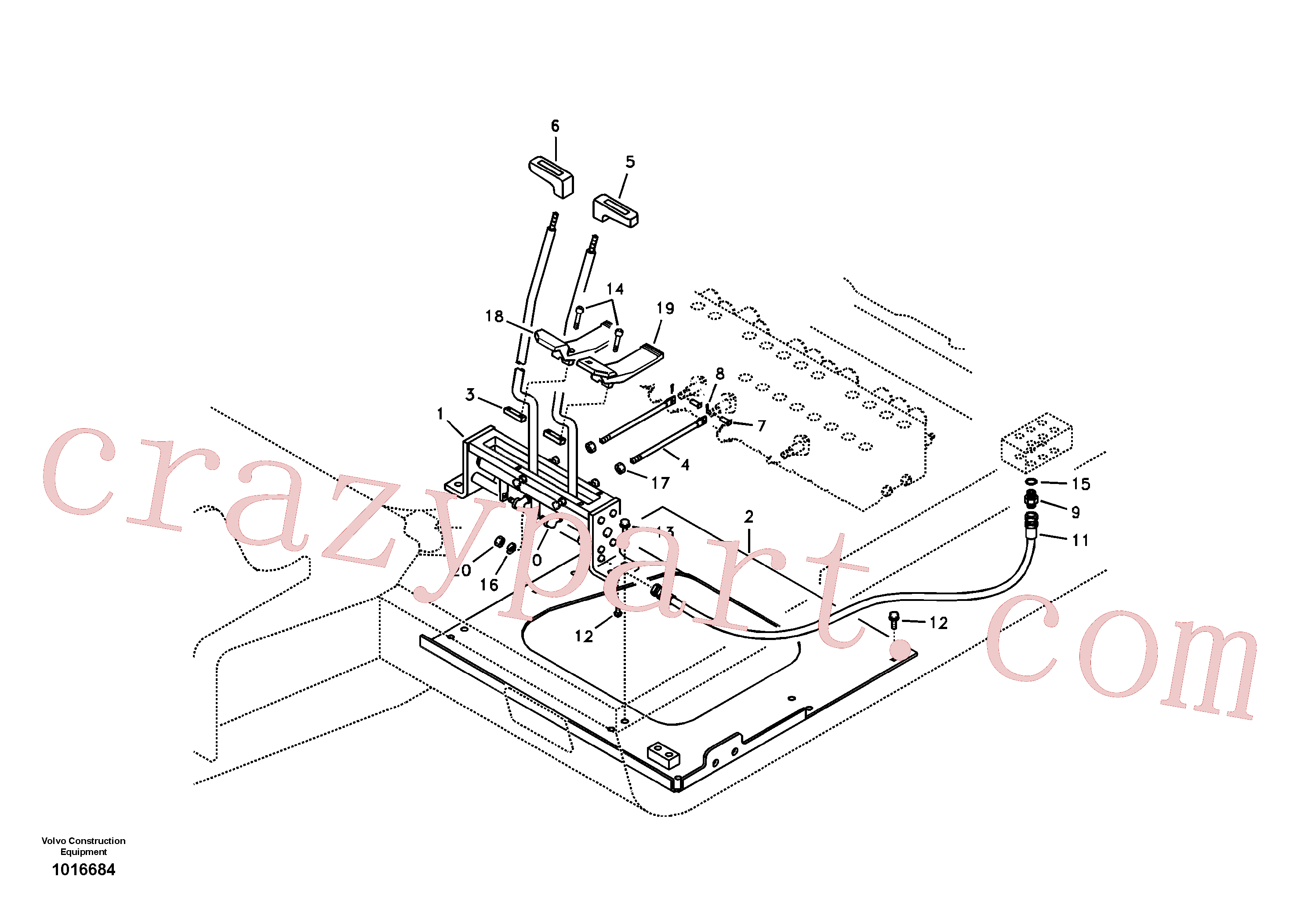 VOE14530446 for Volvo Control links, travel(1016684 assembly)