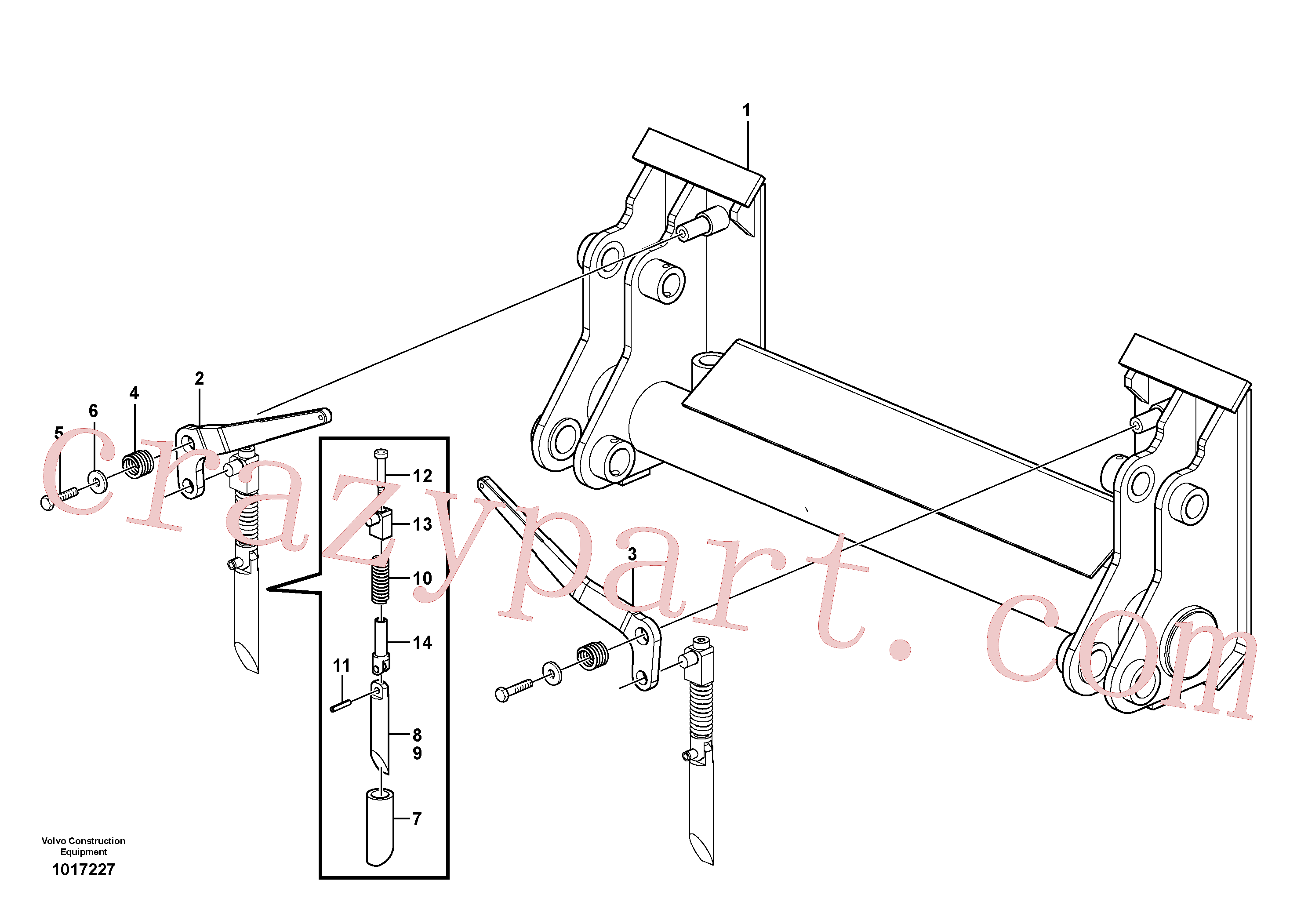 VOE982220 for Volvo Quick attach group(1017227 assembly)
