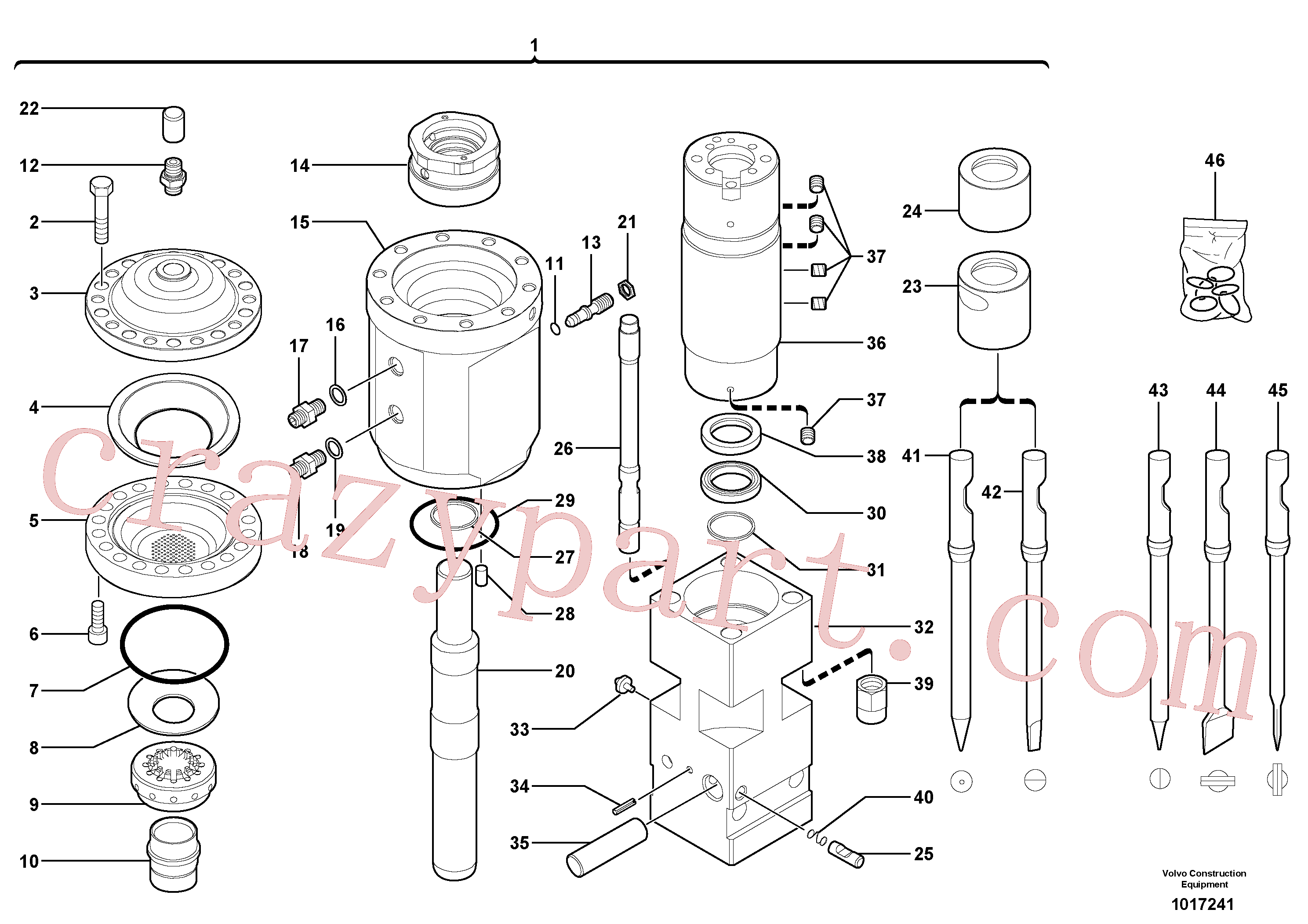 VOE11800001 for Volvo Hammer(1017241 assembly)
