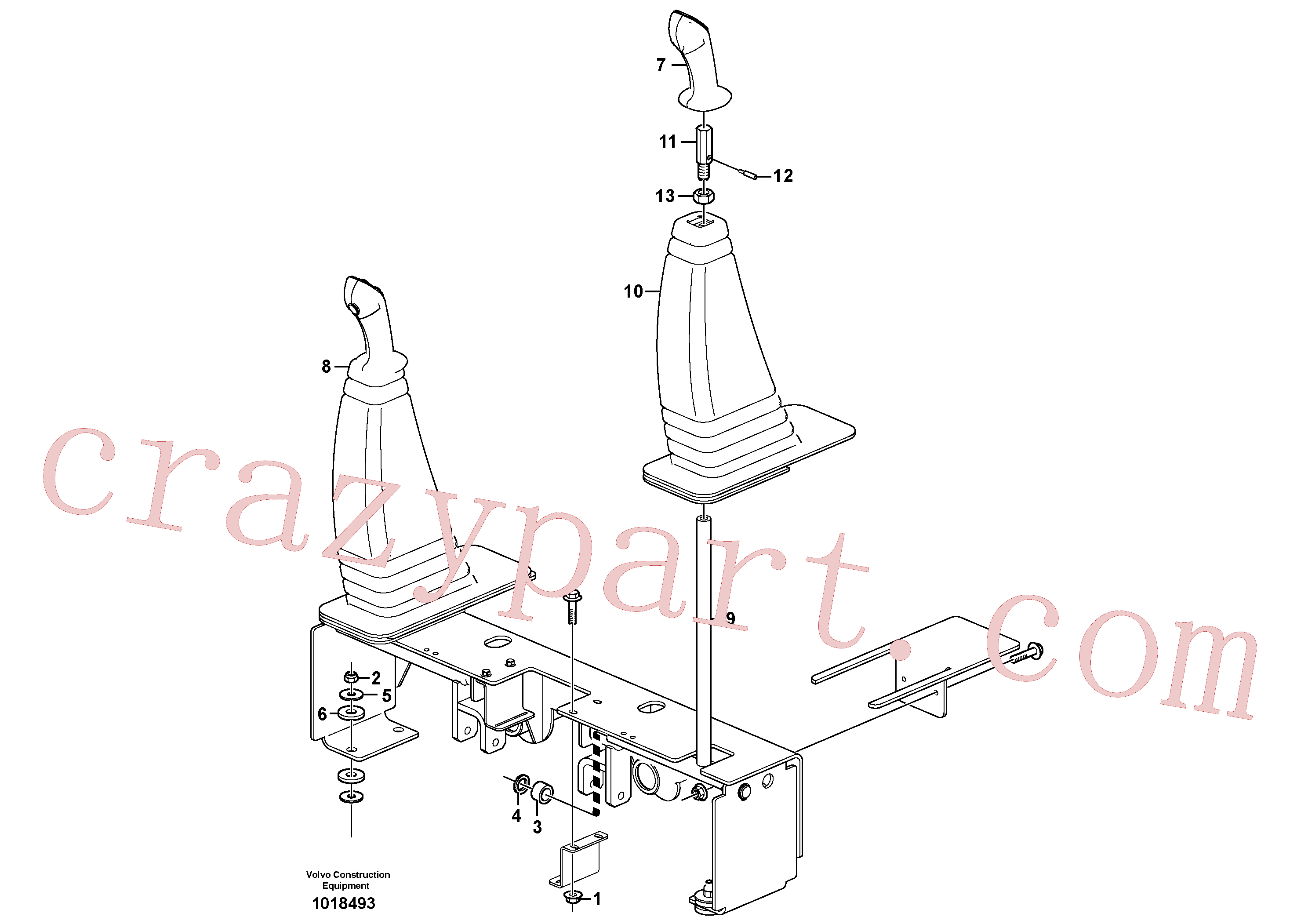 VOE11852941 for Volvo Optional hand controls(1018493 assembly)