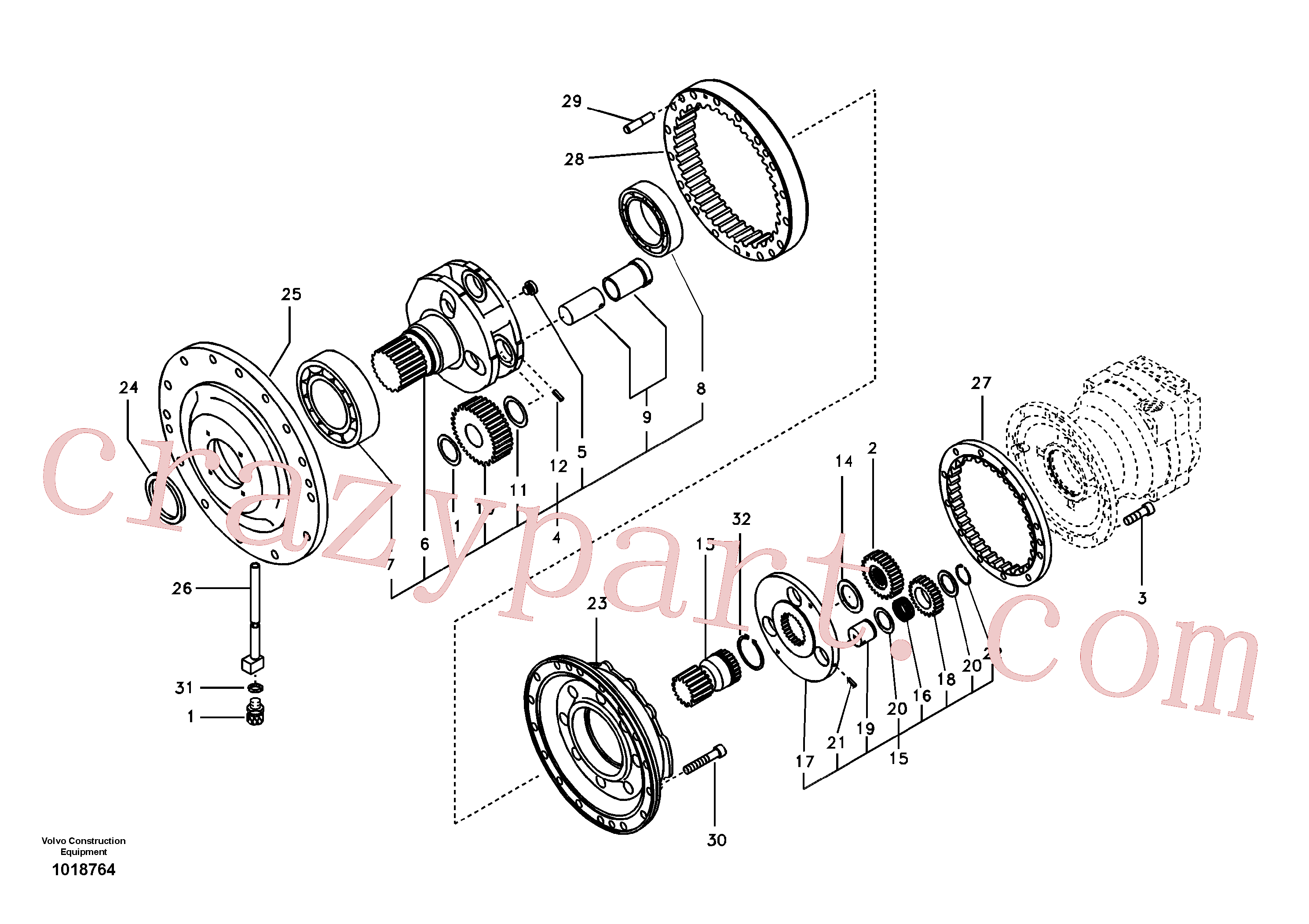 SA9541-01085 for Volvo Swing gearbox(1018764 assembly)