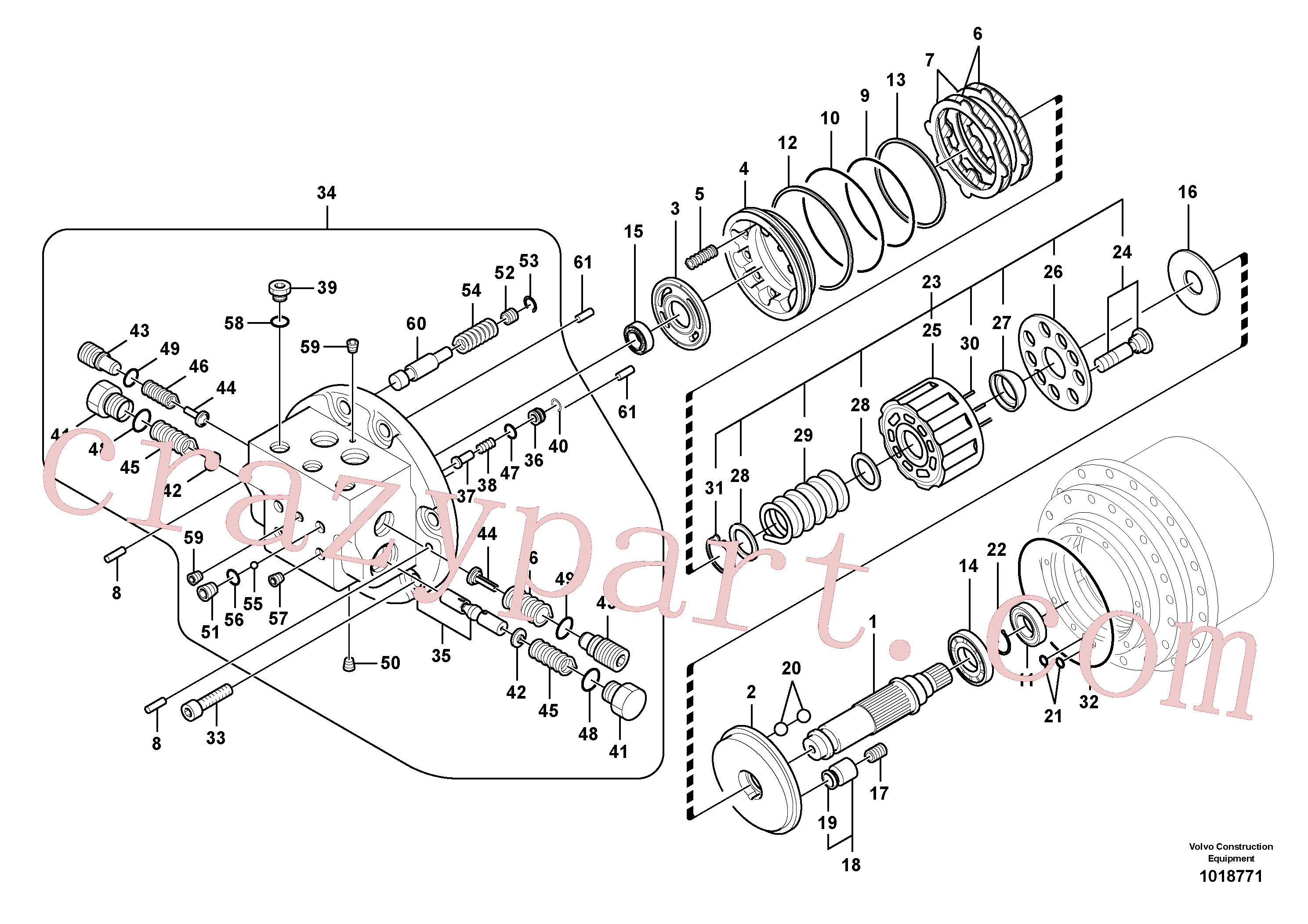SA8230-10010 for Volvo Travel motor(1018771 assembly)